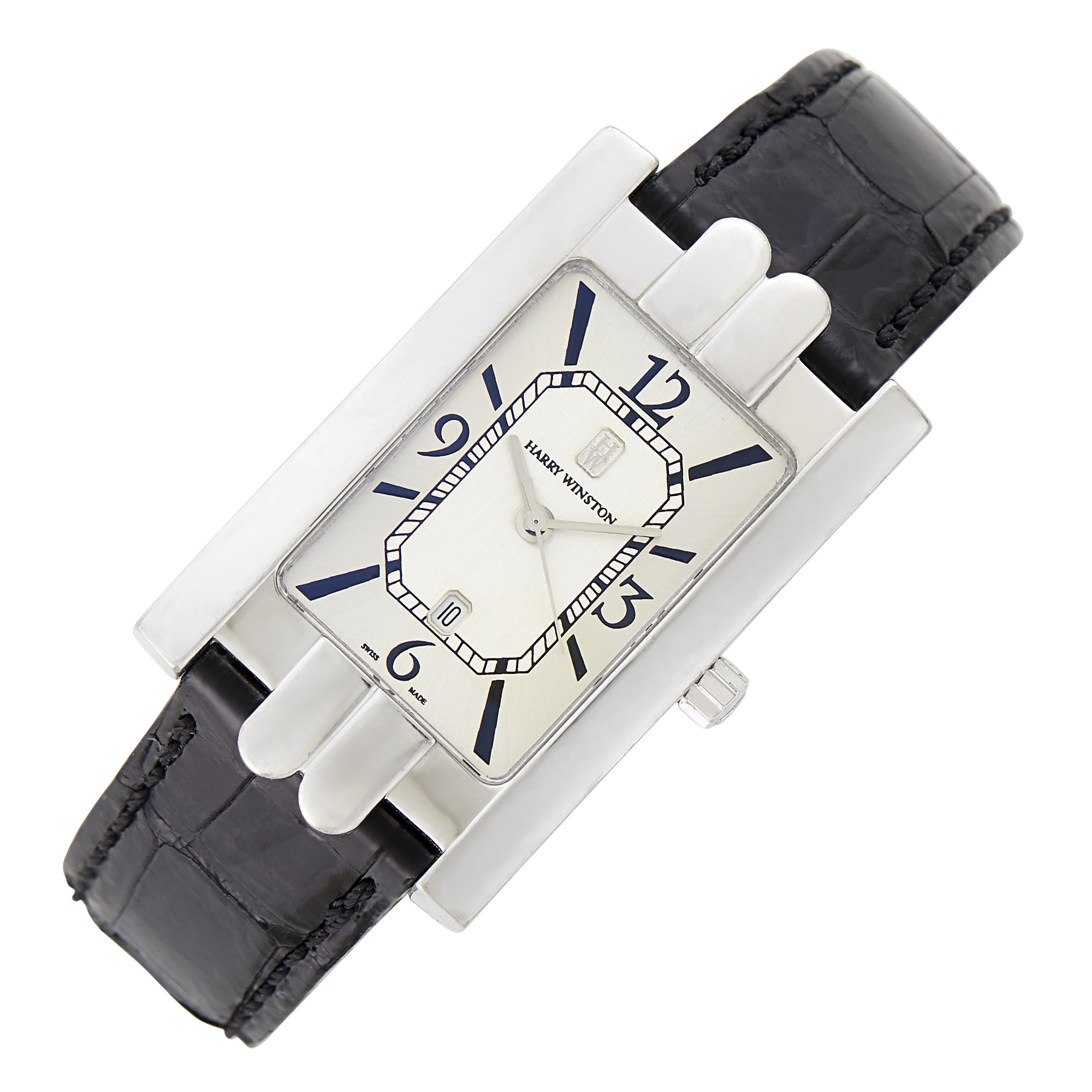 Lot image - Harry Winston Gentlemans White Gold Avenue Wristwatch