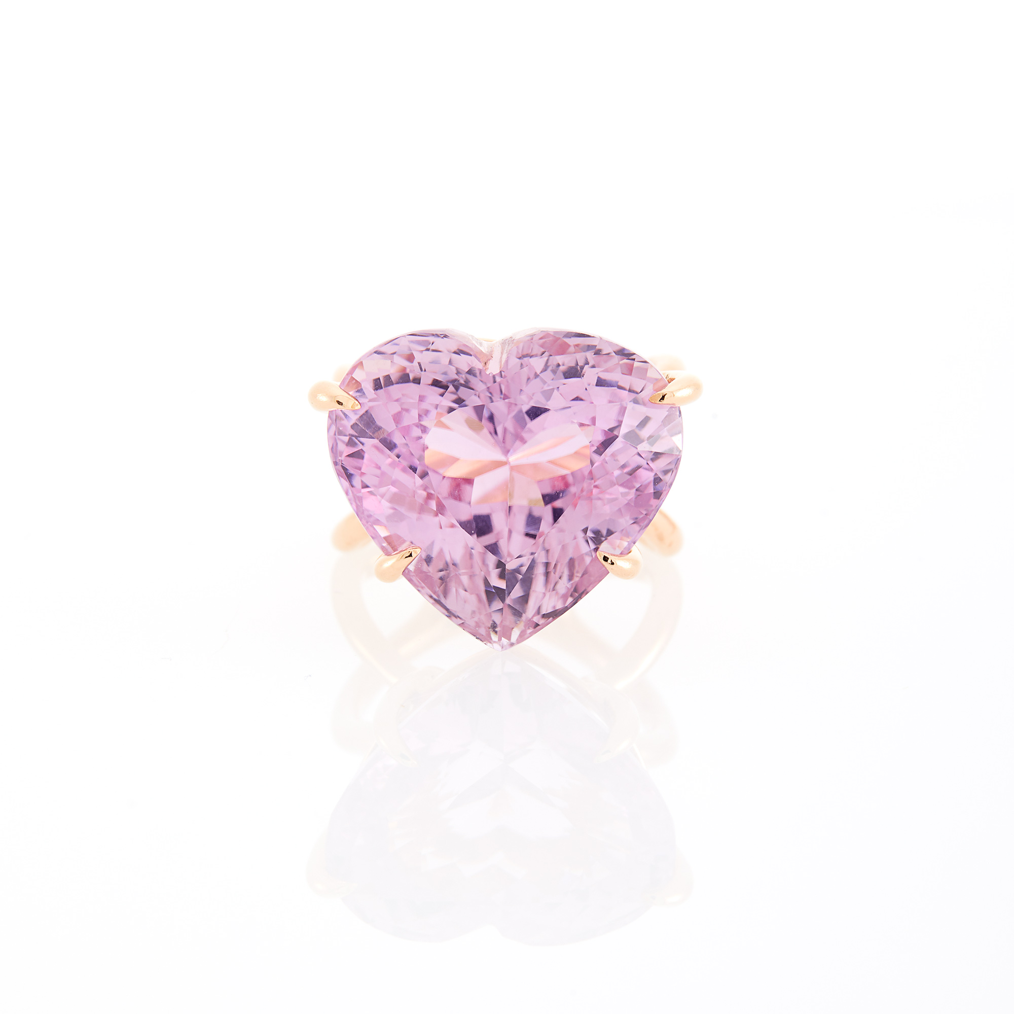 Lot image - Rose Gold and Kunzite Ring