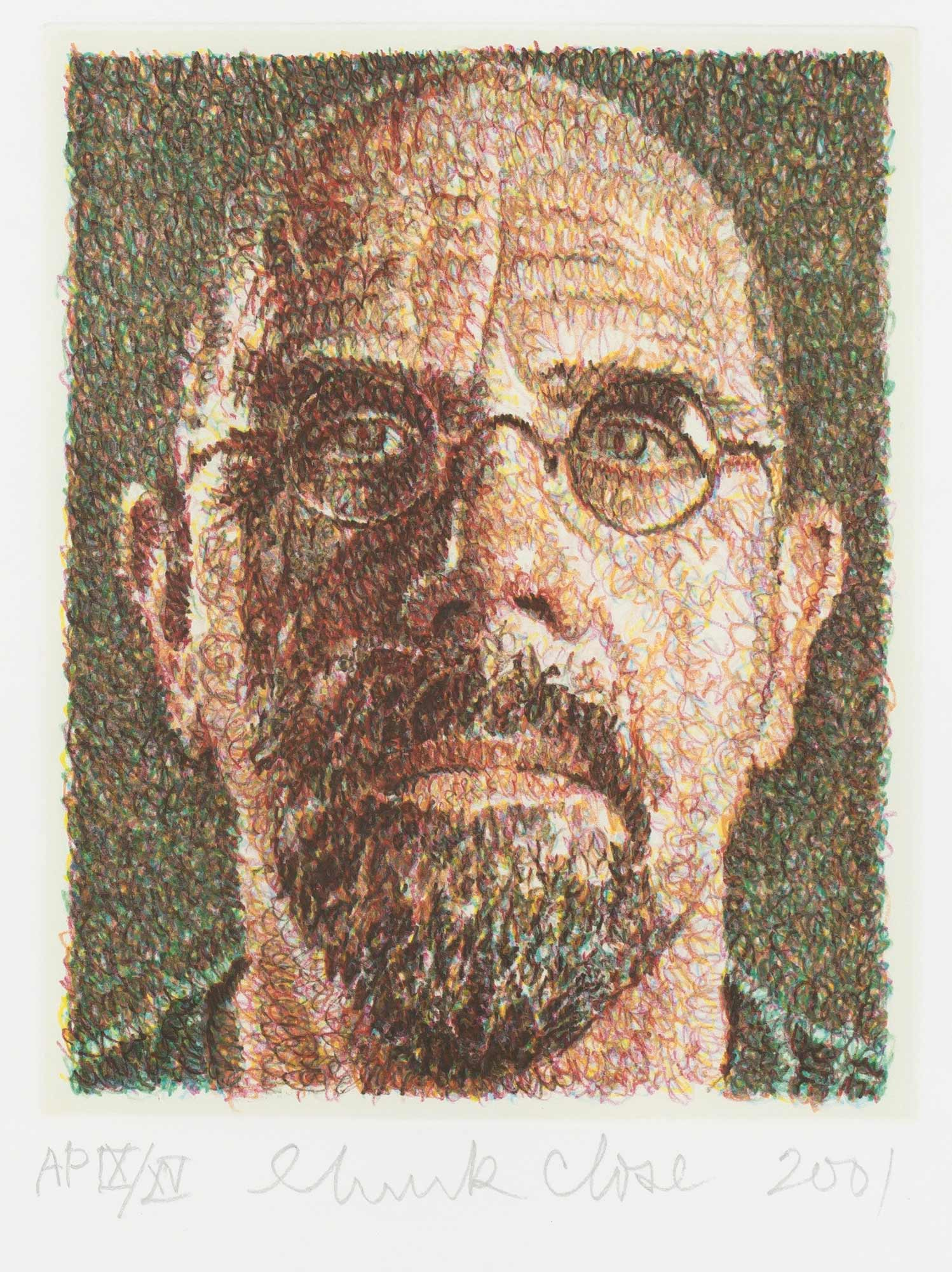 Lot image - Chuck Close (b. 1940)