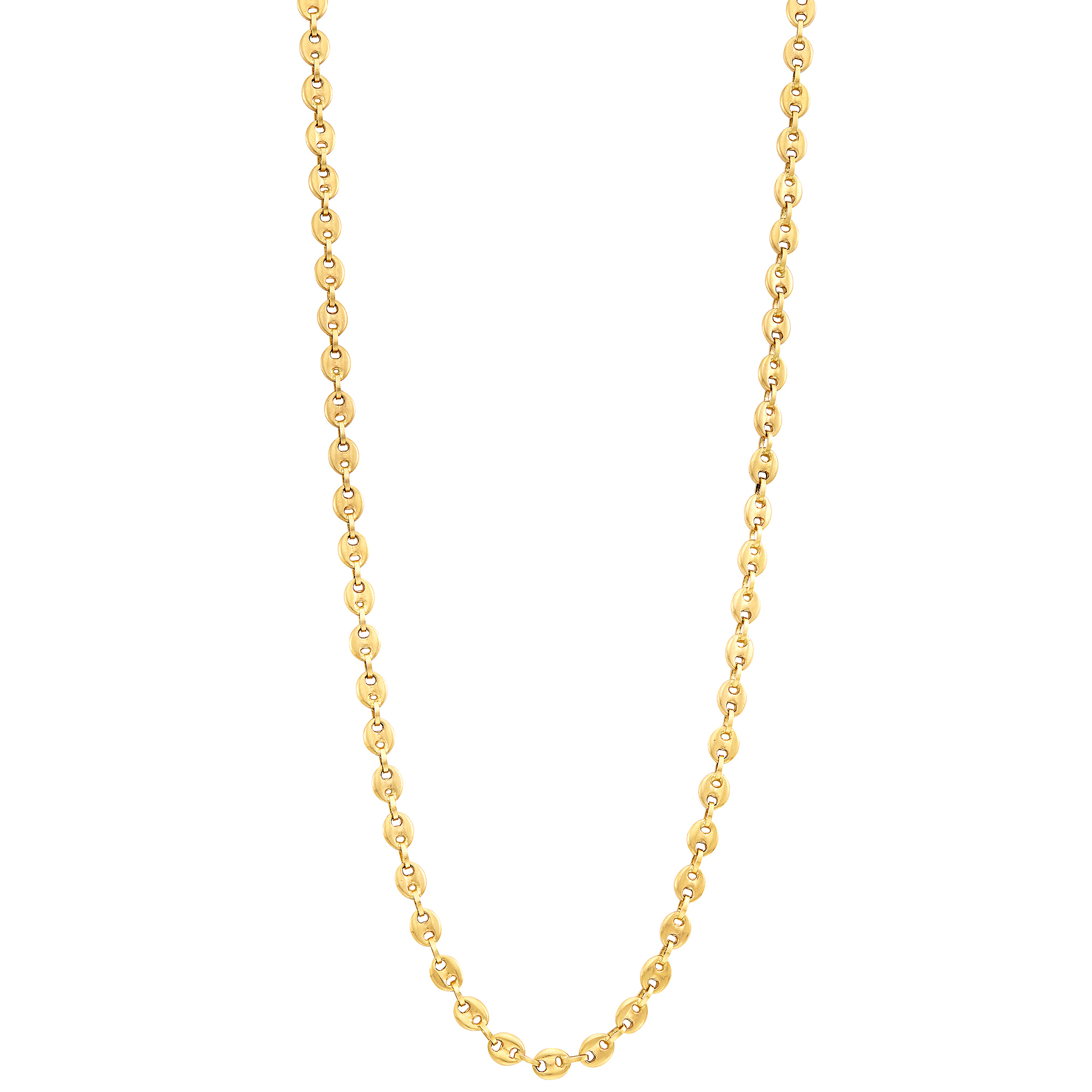 Lot image - Long Gold Nautical Link Chain Necklace