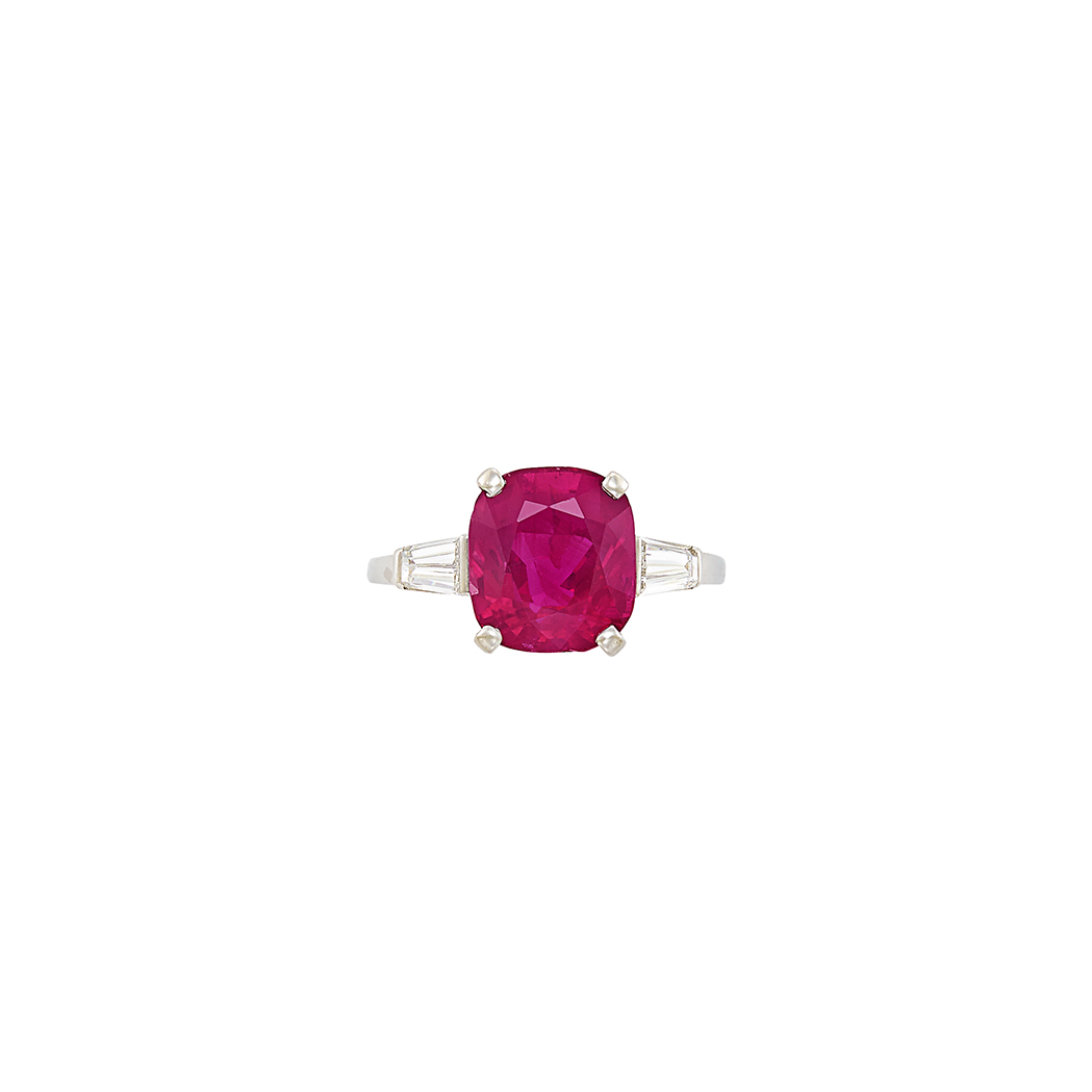 Lot image - Platinum, Ruby and Diamond Ring, Raymond Yard