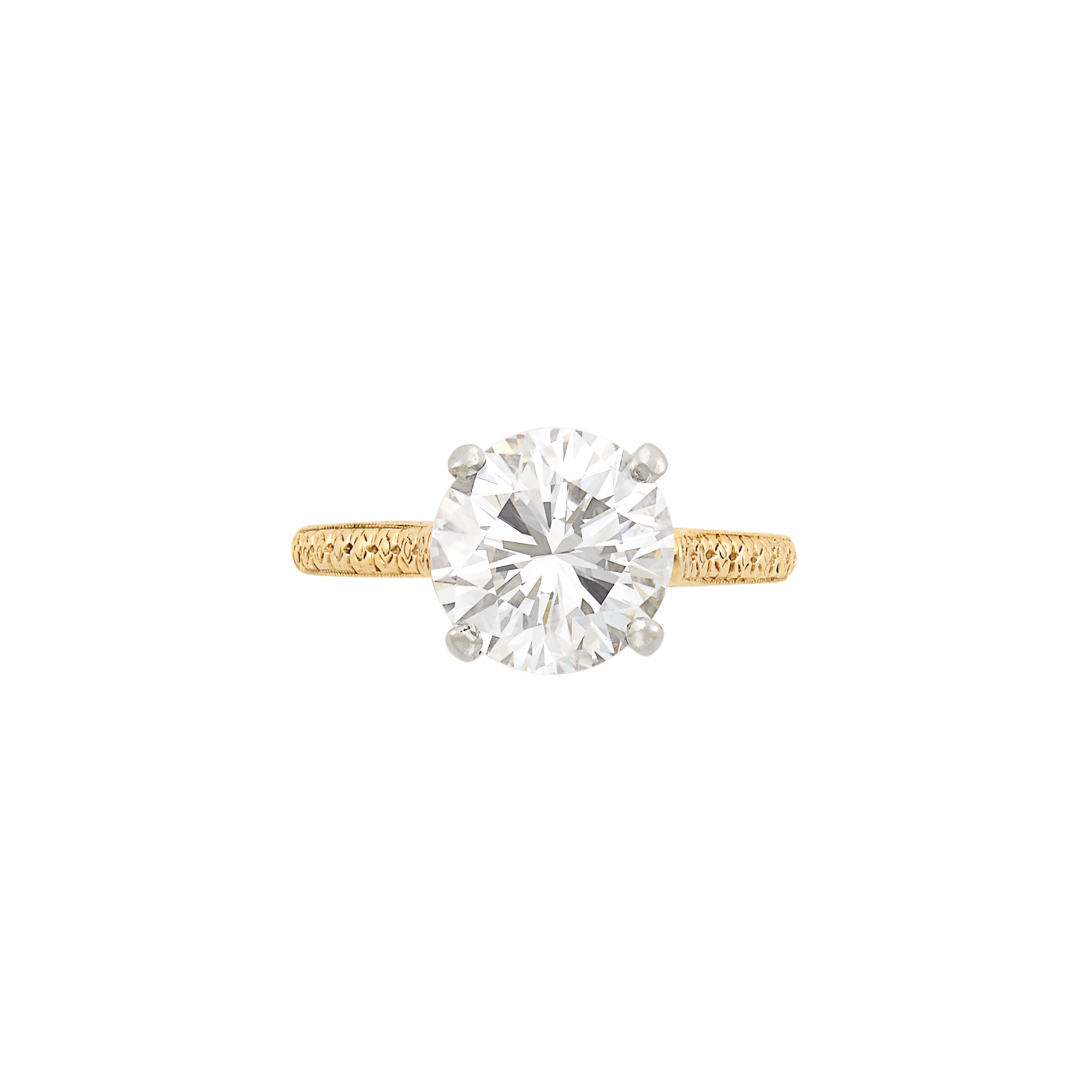 Lot image - Gold, Platinum and Diamond Ring