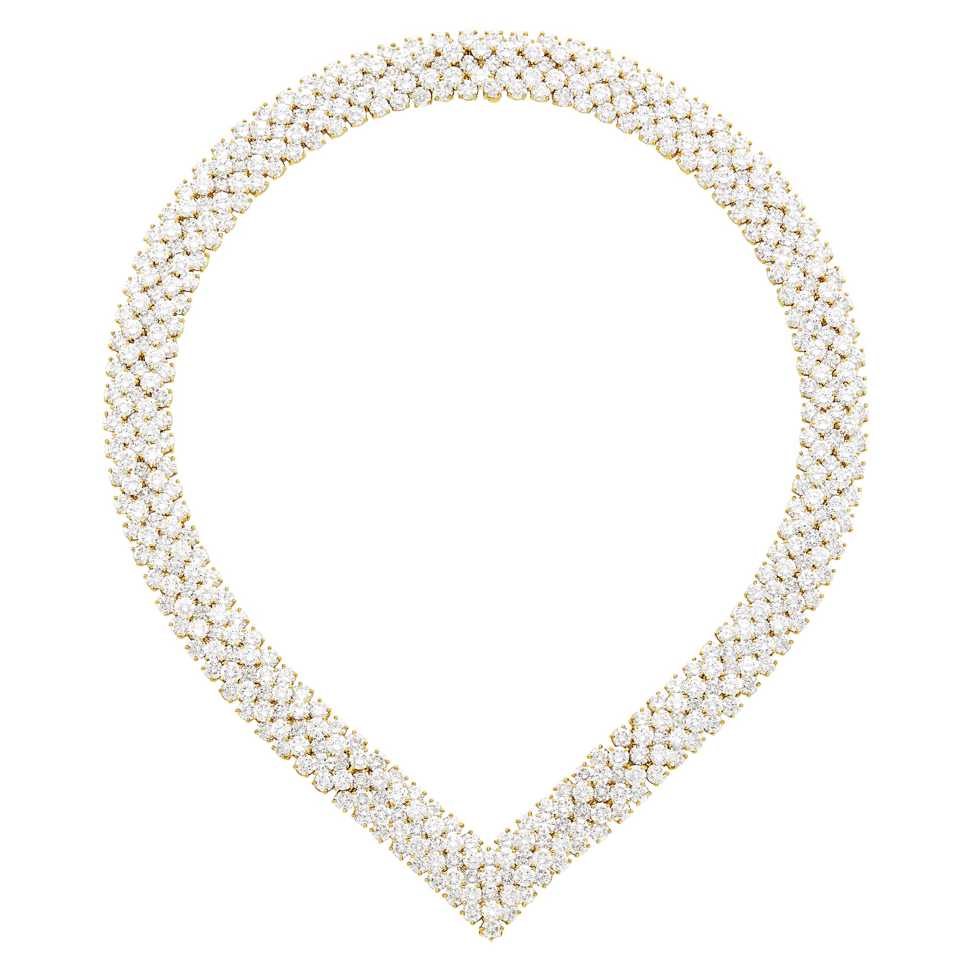 Lot image - Van Cleef & Arpels Gold and Diamond Necklace/Bracelets Combination