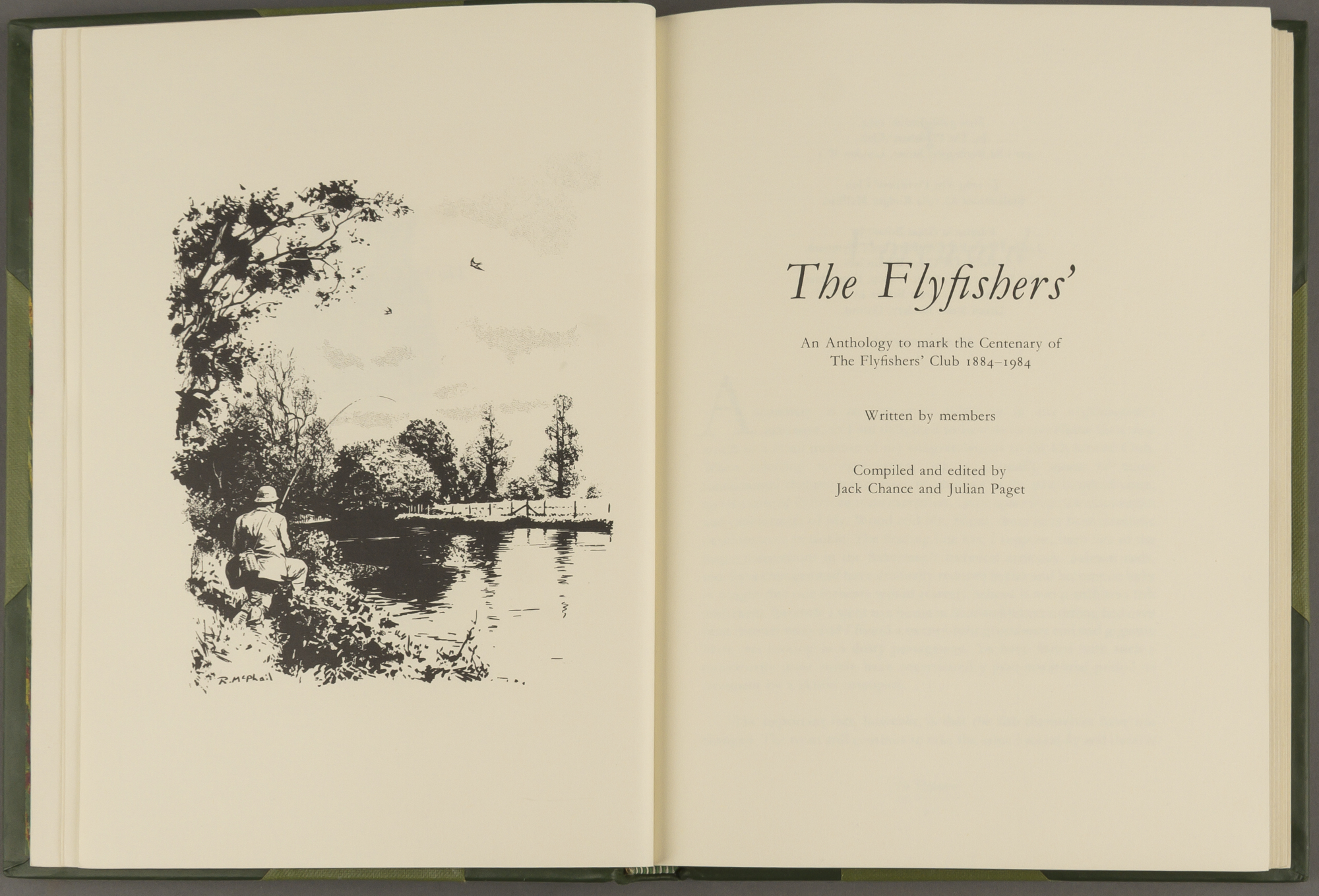 Lot image - CHANCE, JACK and PAGET, JULIAN  The Flyfishers: an Anthology to mark the Centenary of The Flyfishers Club 1884-1984.