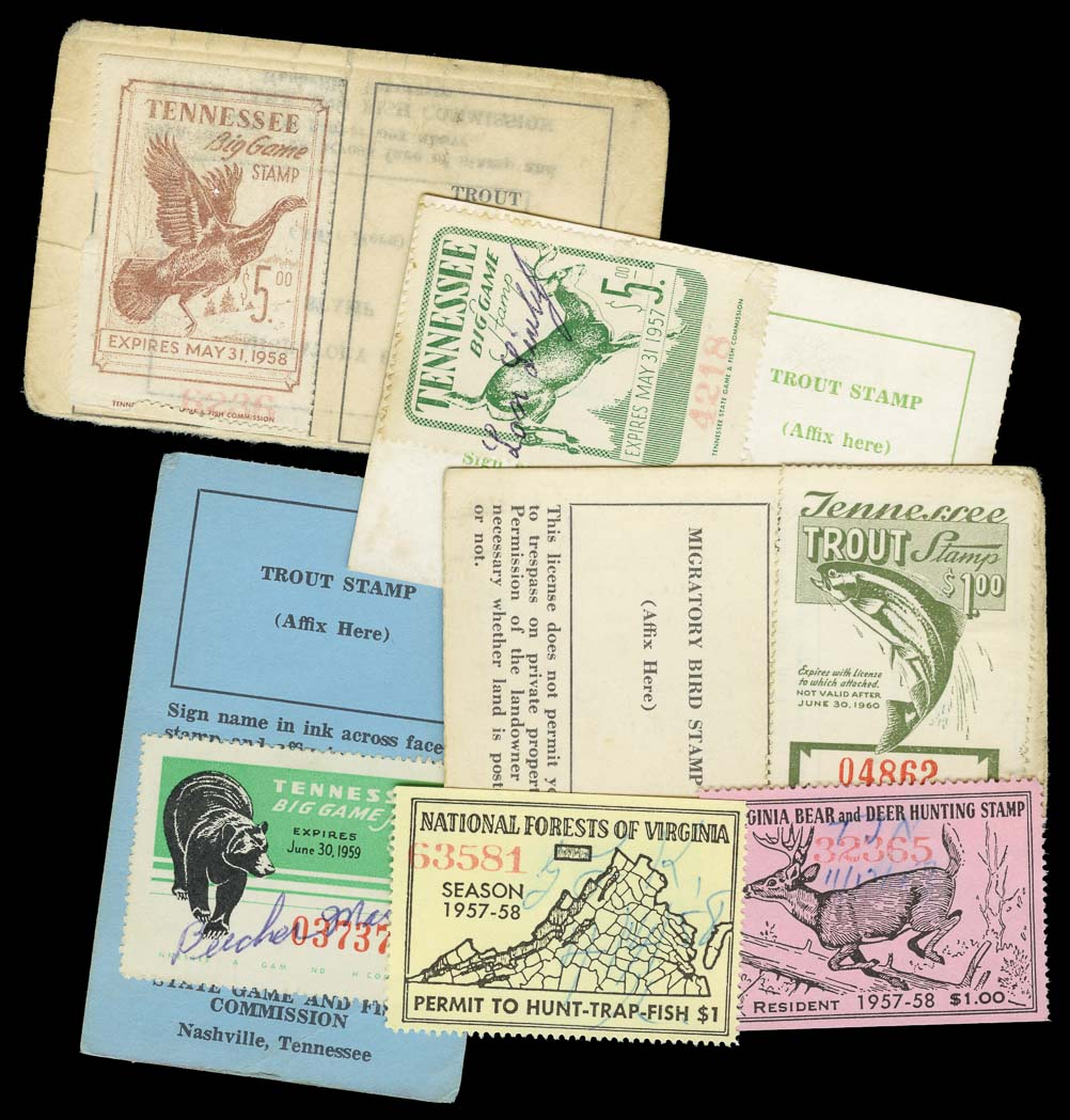 Lot image - United States Wildlife Stamps and Licenses