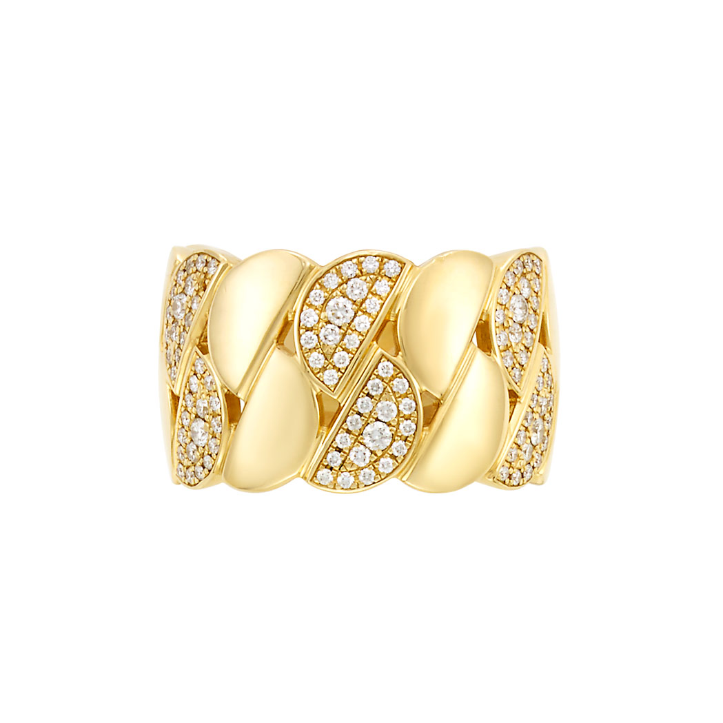 Lot image - Gold and Diamond Band Ring, Cartier