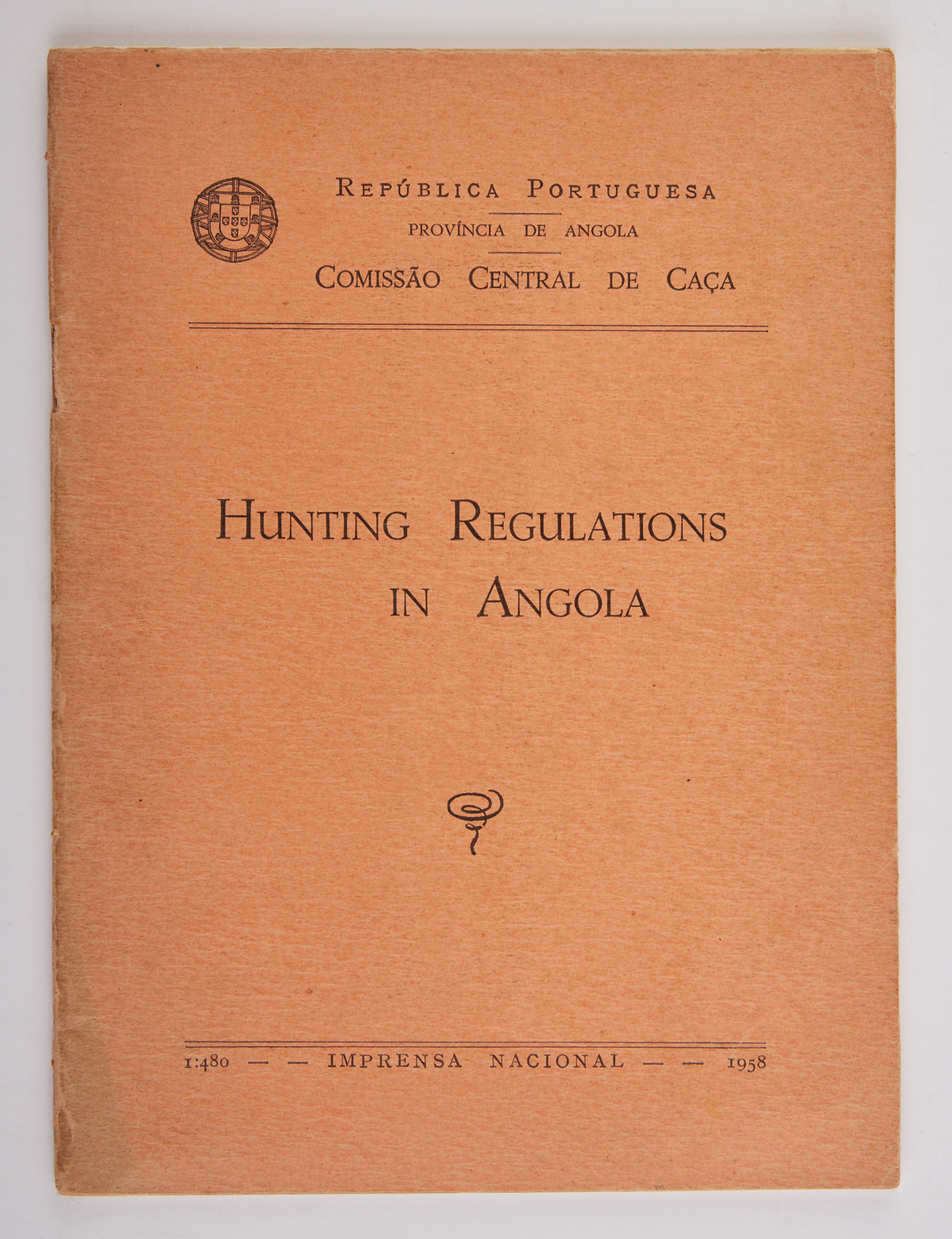 Lot image - [AFRICA - HUNTING]  Hunting Regulations in Angola.