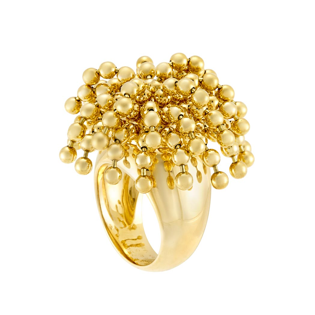 Lot image - Gold 'Perruque' Ring, Cartier, France