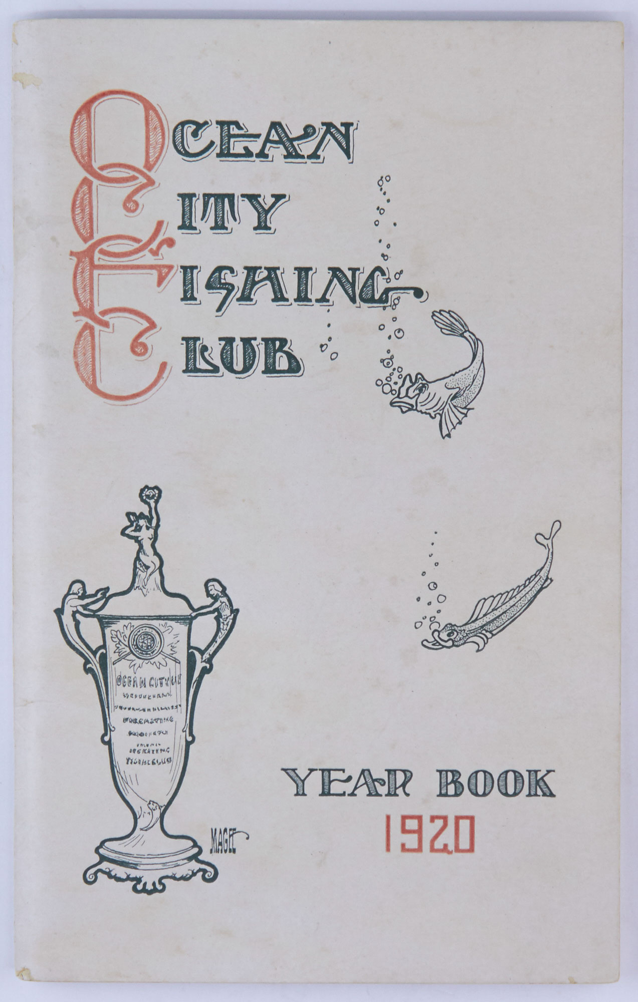 Lot image - [ANGLING CLUB - NEW JERSEY]  1920 Year Book. Ocean City Fishing Club.