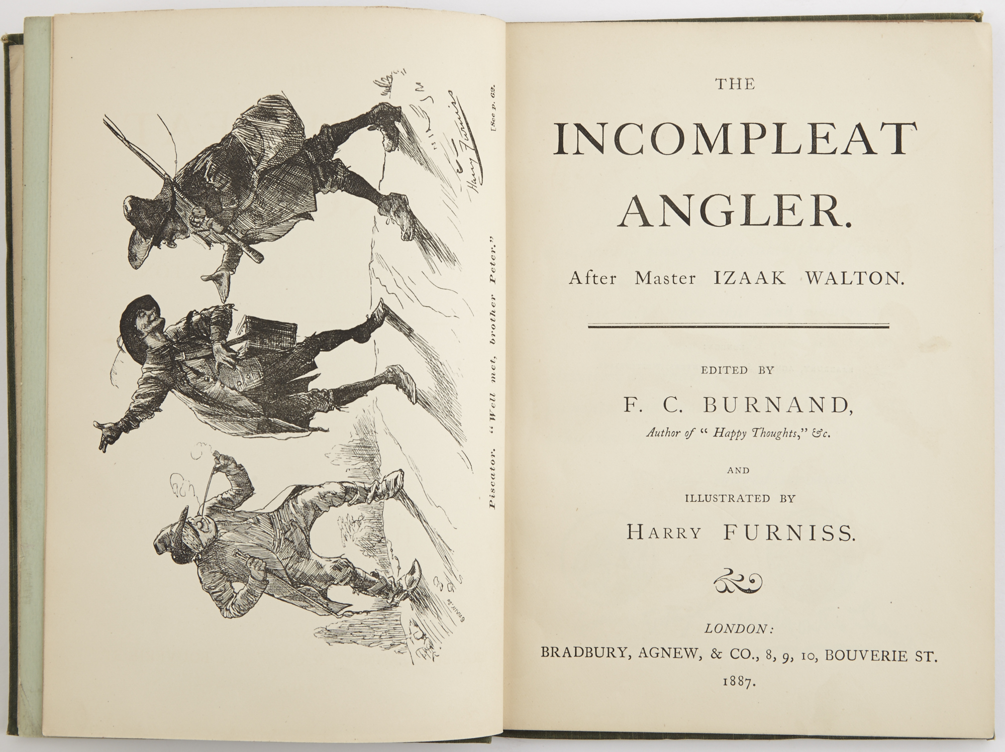 Lot image - BURNAND, F.C.  The Incompleat Angler. After Master Izaak Walton.