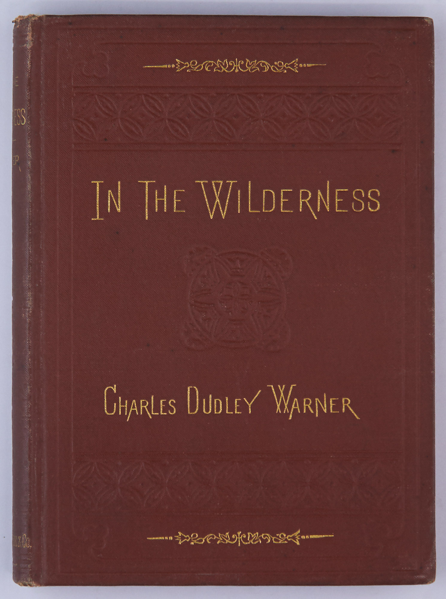 Lot image - [ADIRONDACKS]  WARNER, CHARLES DUDLEY. In the Wilderness.