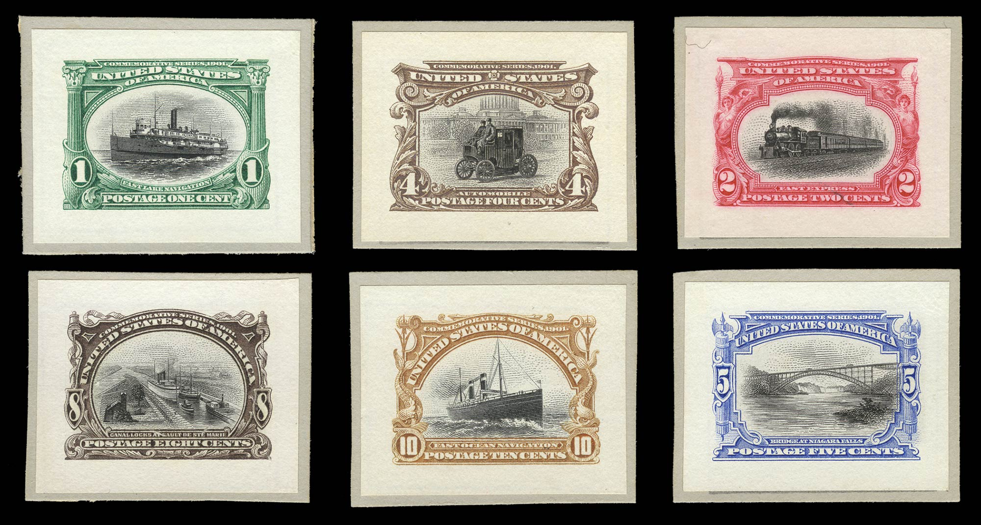 Lot image - United States 1901 Pan-American Small Die Proofs
