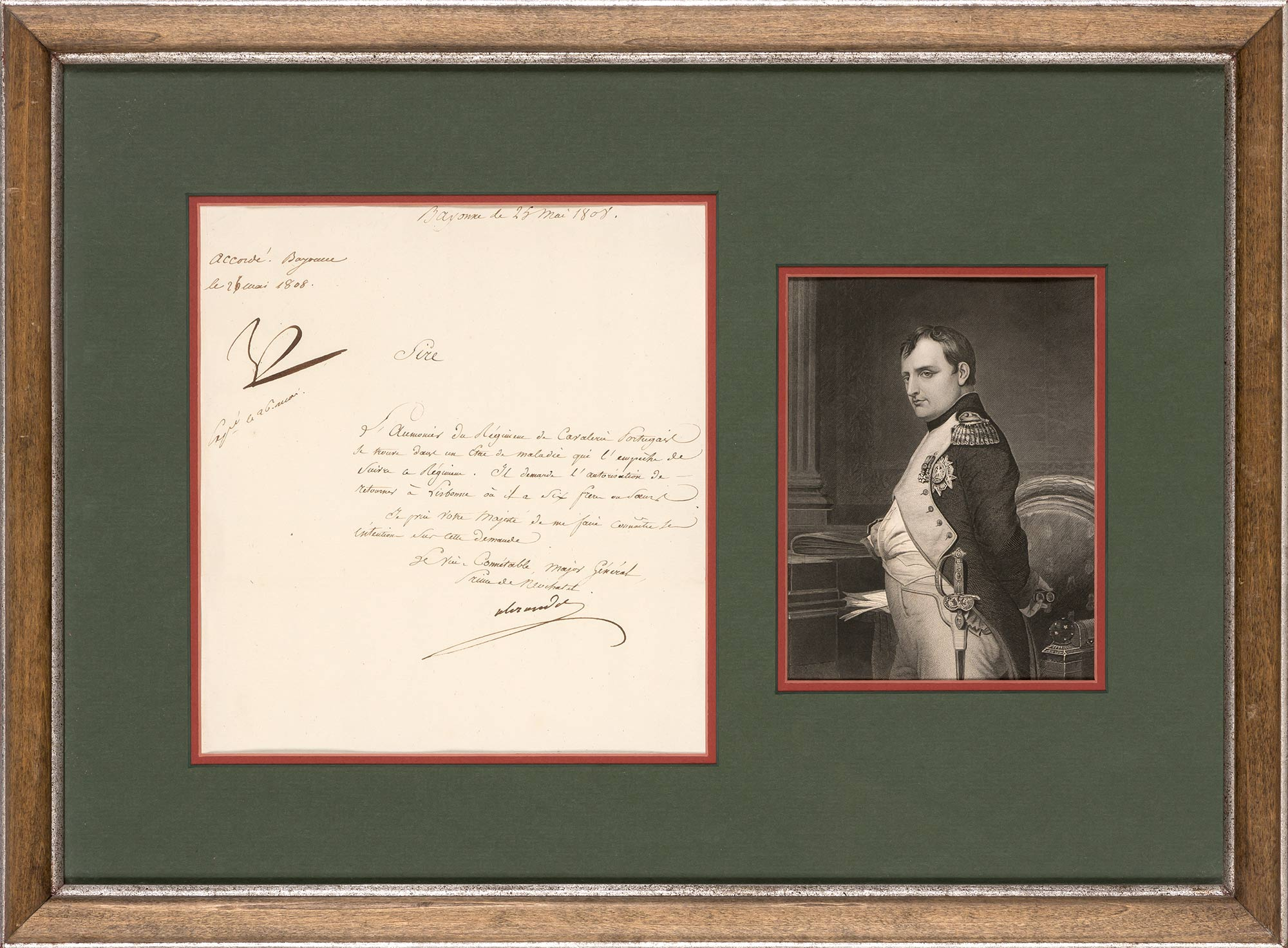 Lot image - NAPOLÉON BONAPARTE  Document signed Np by Napoleon as Emperor of the French.