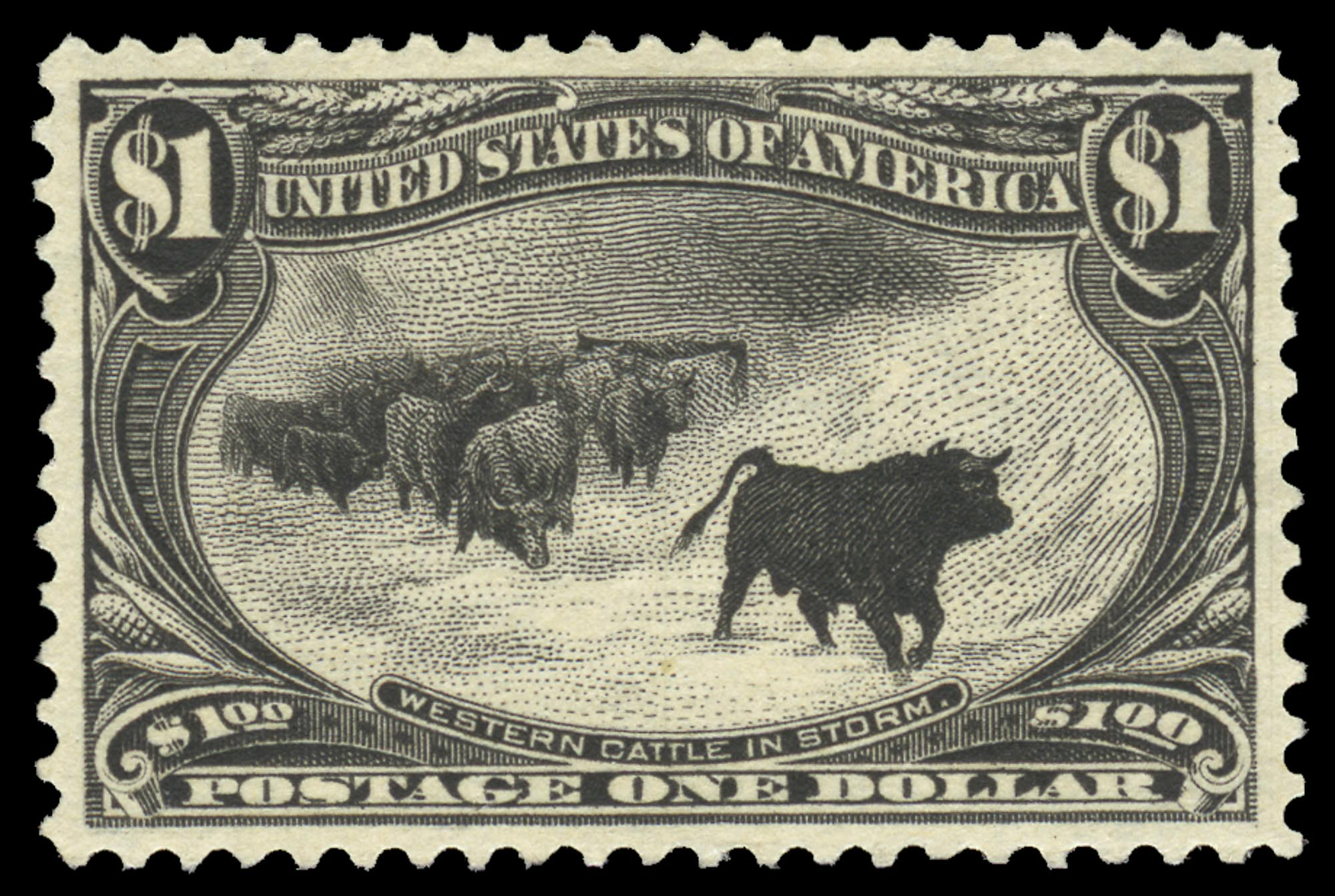 Lot image - United States 1898 $1 Black, Scott 292