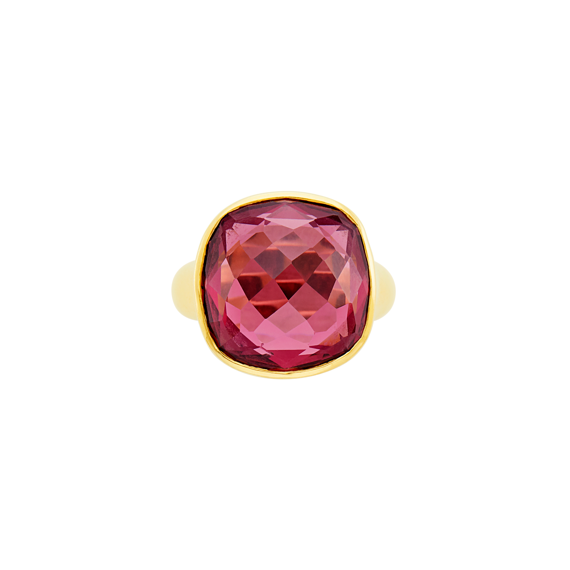 Lot image - Gold and Pink Tourmaline Ring, McTeigue