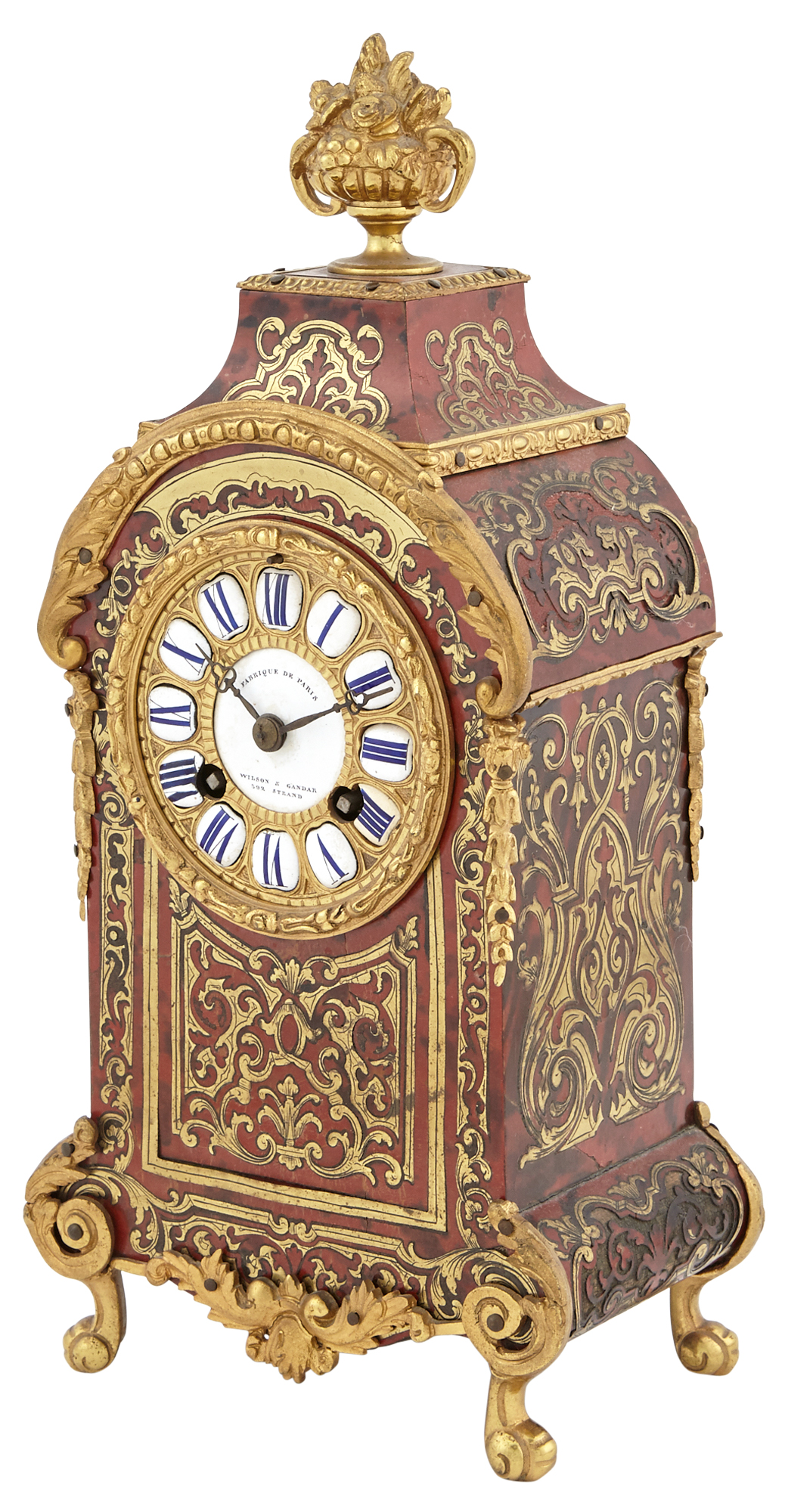 Lot image - Louis XIV Style Boulle Marquetry Clock