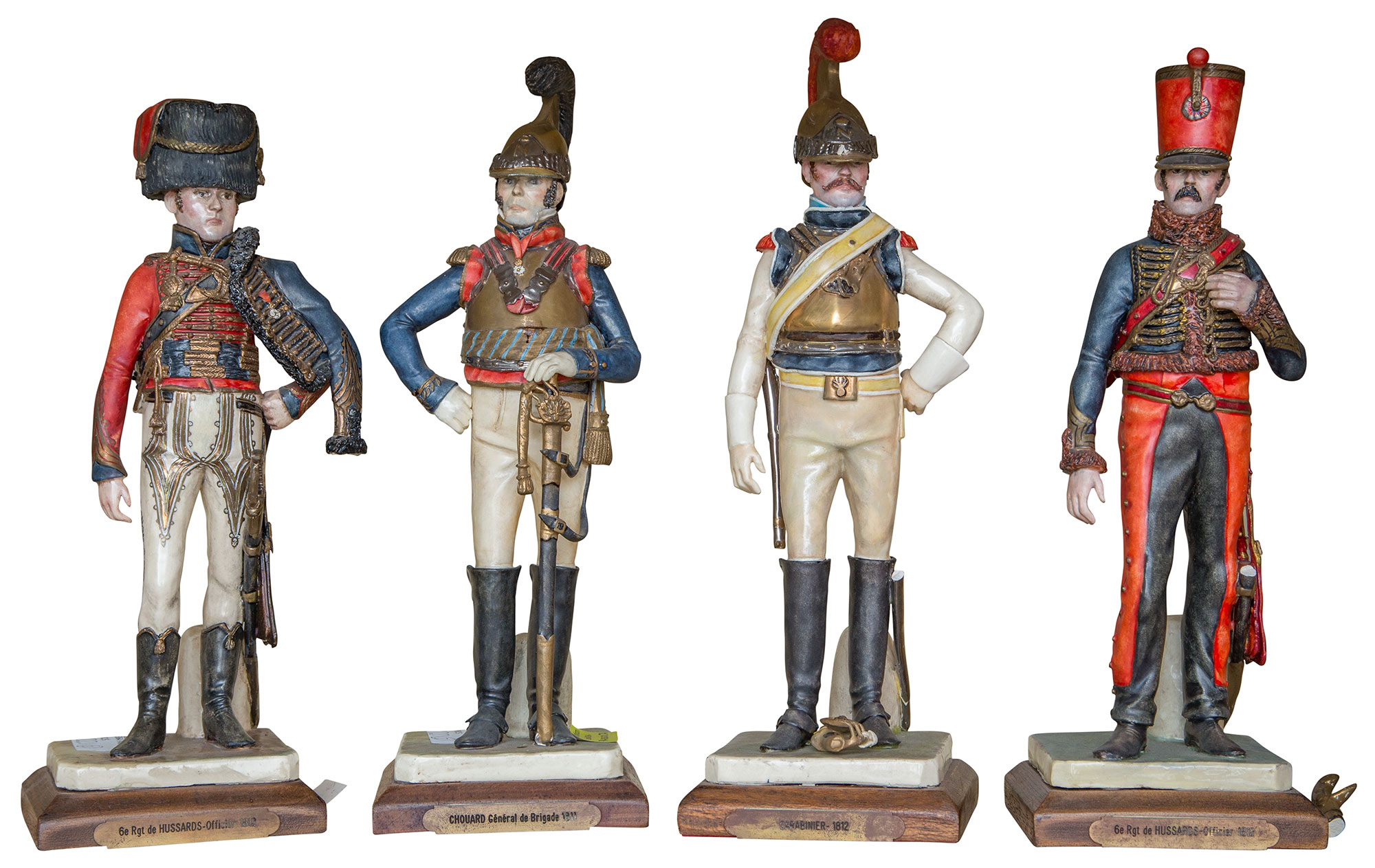 Lot image - Set of Four Ceramic Figures of French Uniformed Soldiers