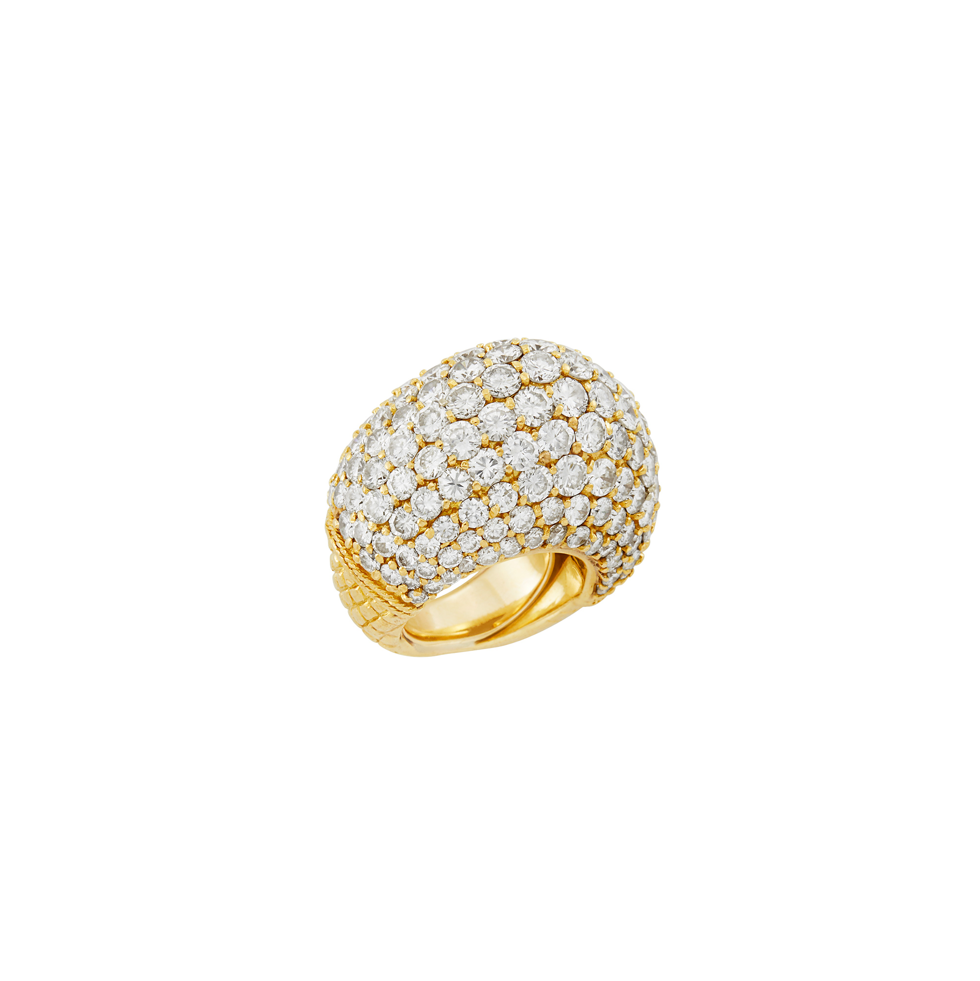 Lot image - Gold and Diamond Dome Ring