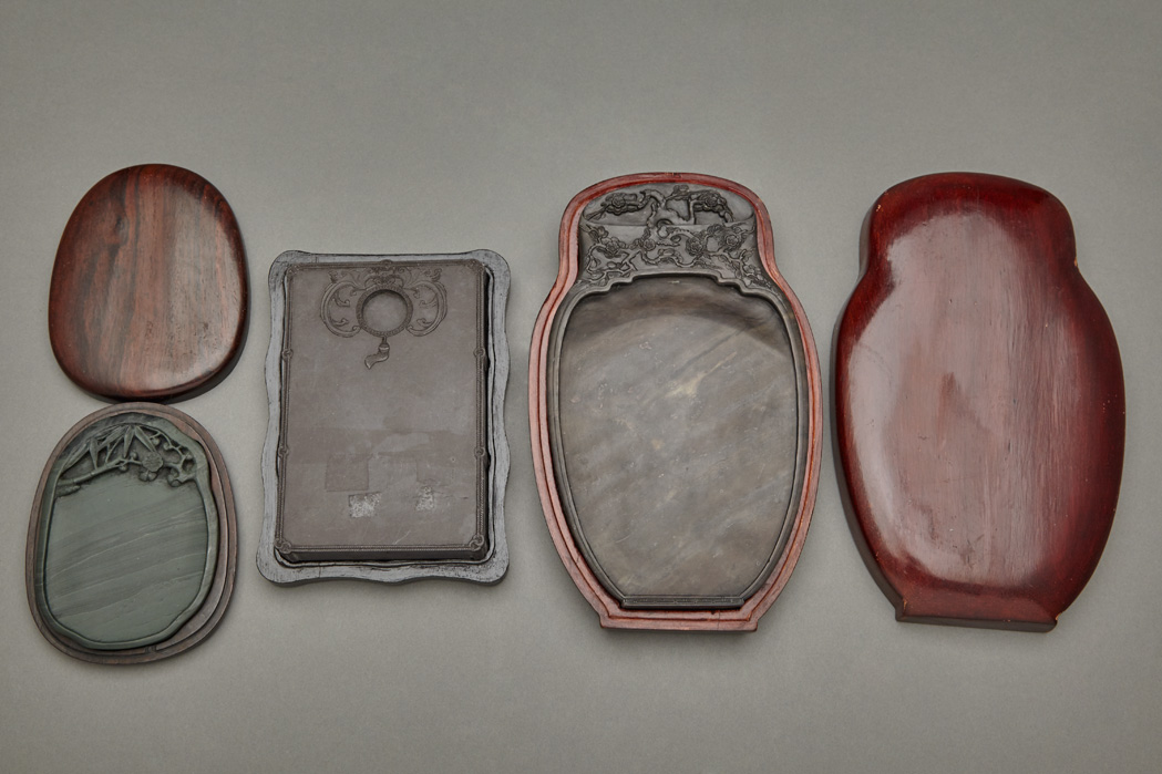 Lot image - Group of Three Chinese Inkstones