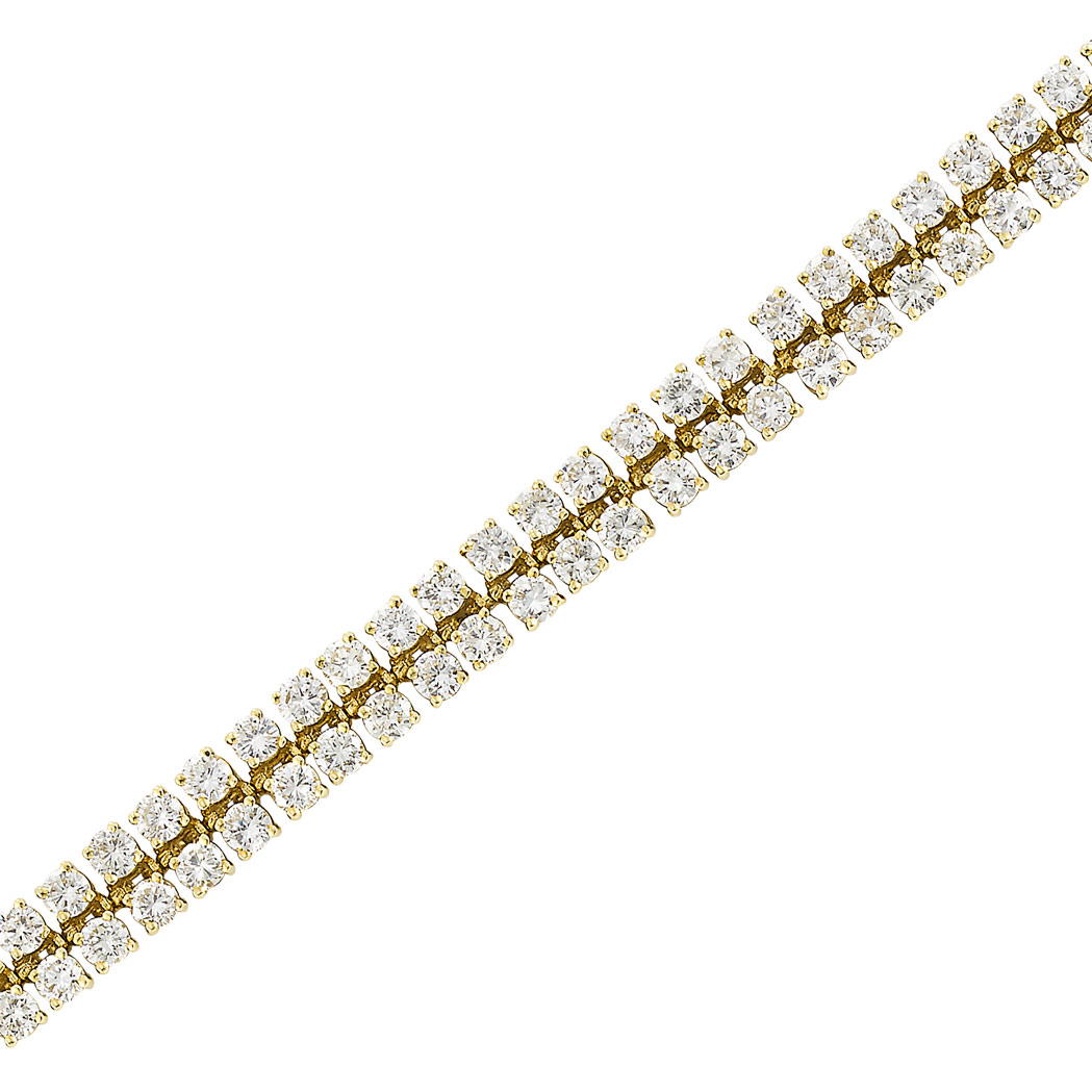 Lot image - Gold and Diamond Bracelet, Van Cleef & Arpels