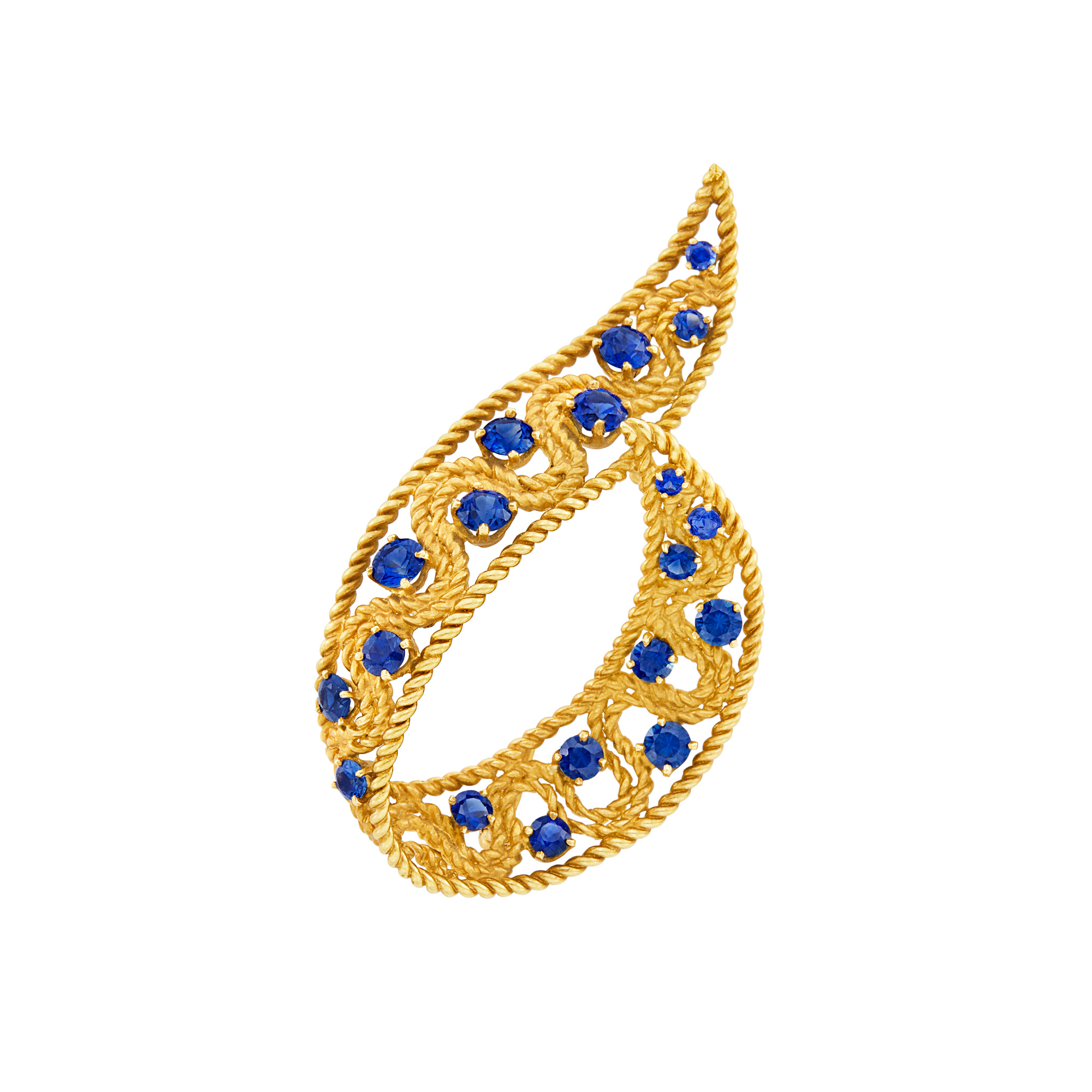 Lot image - Gold and Sapphire Brooch