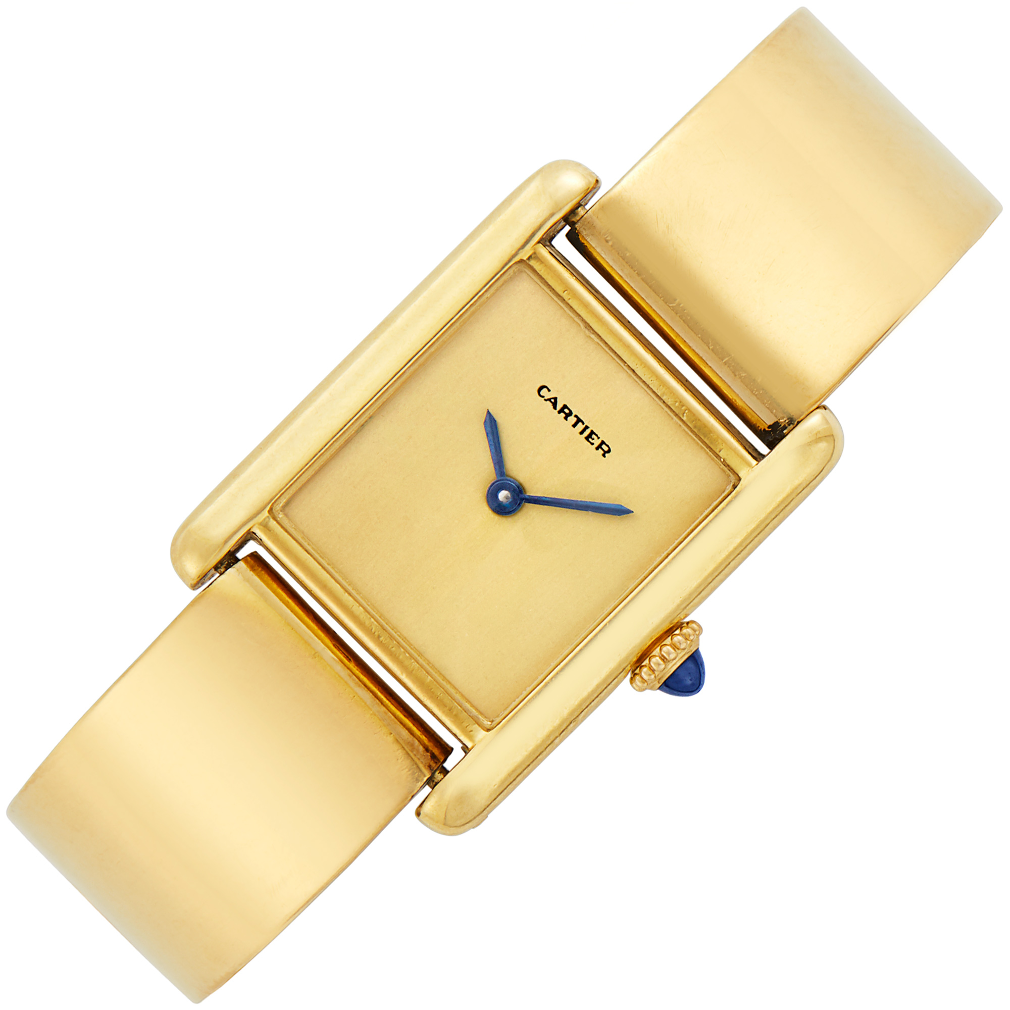 Lot image - Gold Bangle-Watch, Cartier