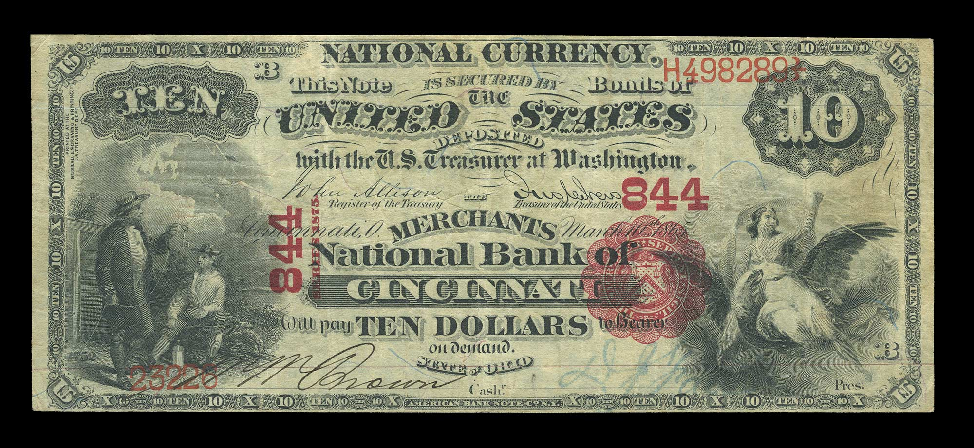 Lot image - United States $10 National Bank Note 1st Charter, Fr. 416