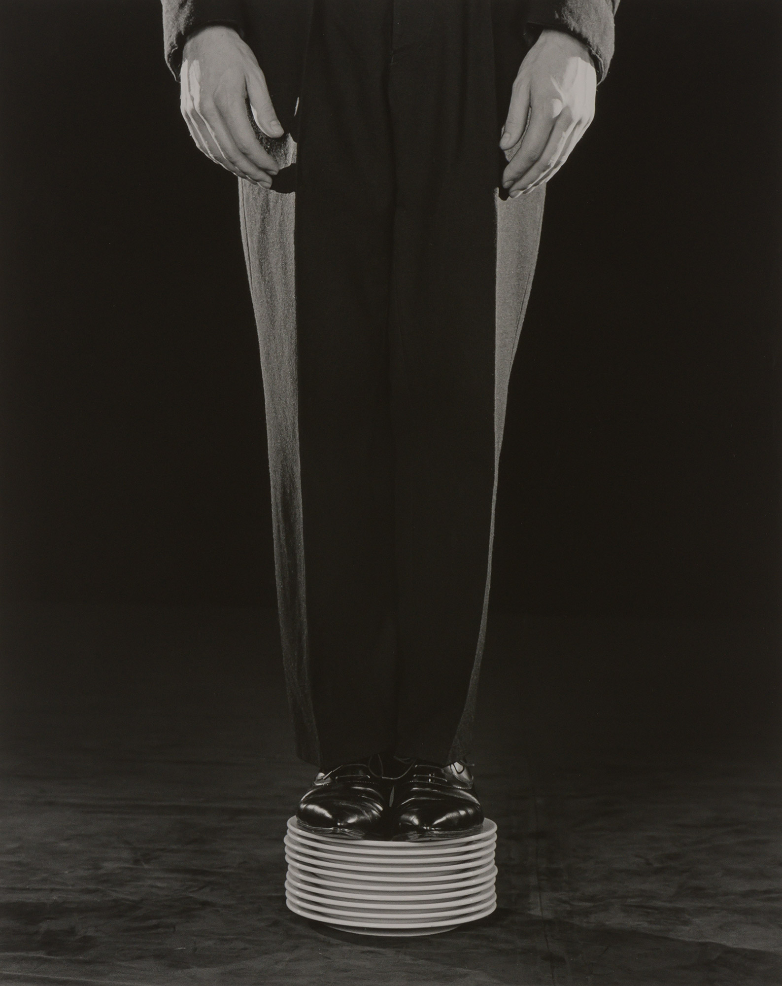 Lot image - MAPPLETHORPE, ROBERT (1946-1989)  Shoes on plates,