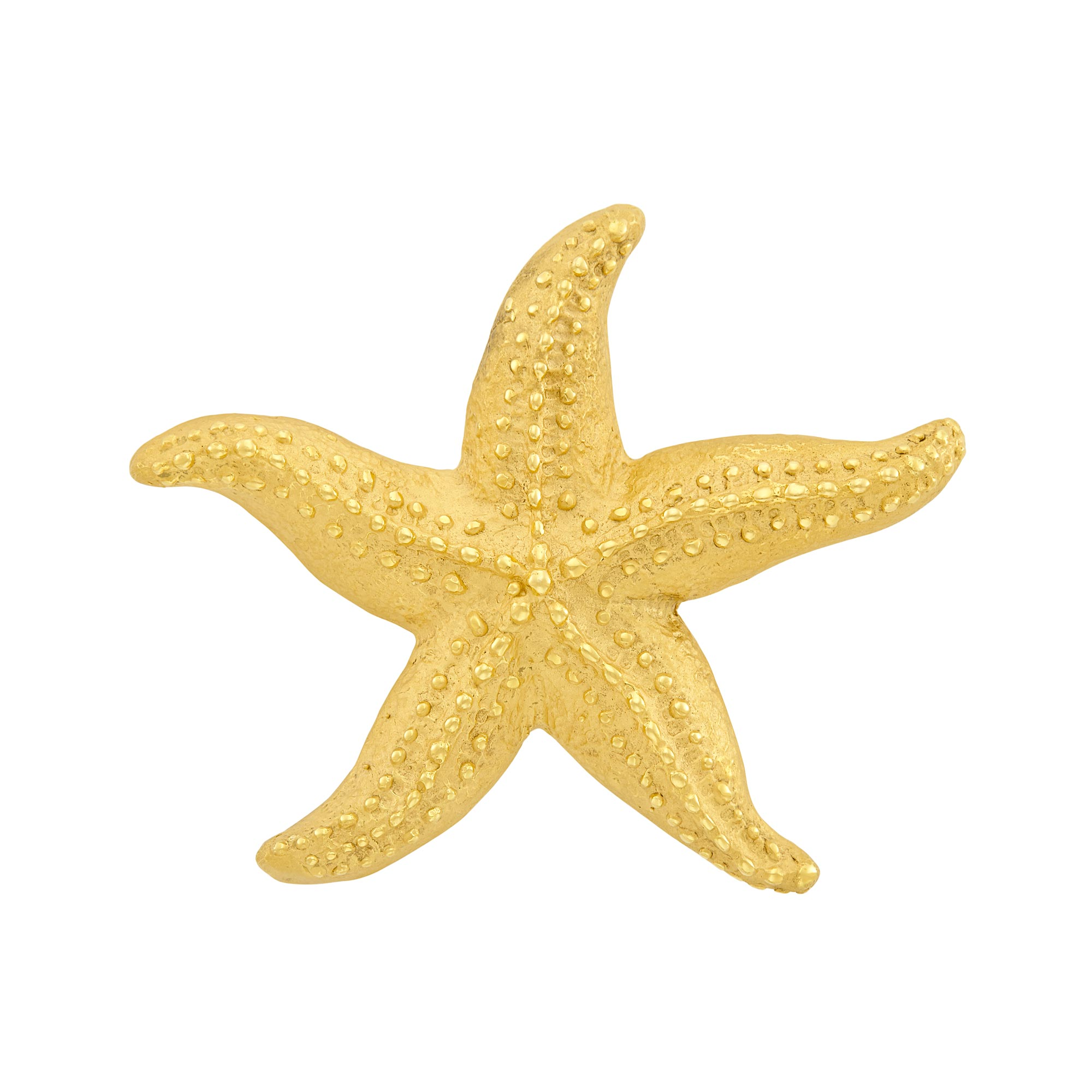 Lot image - Gold Starfish Clip-Brooch