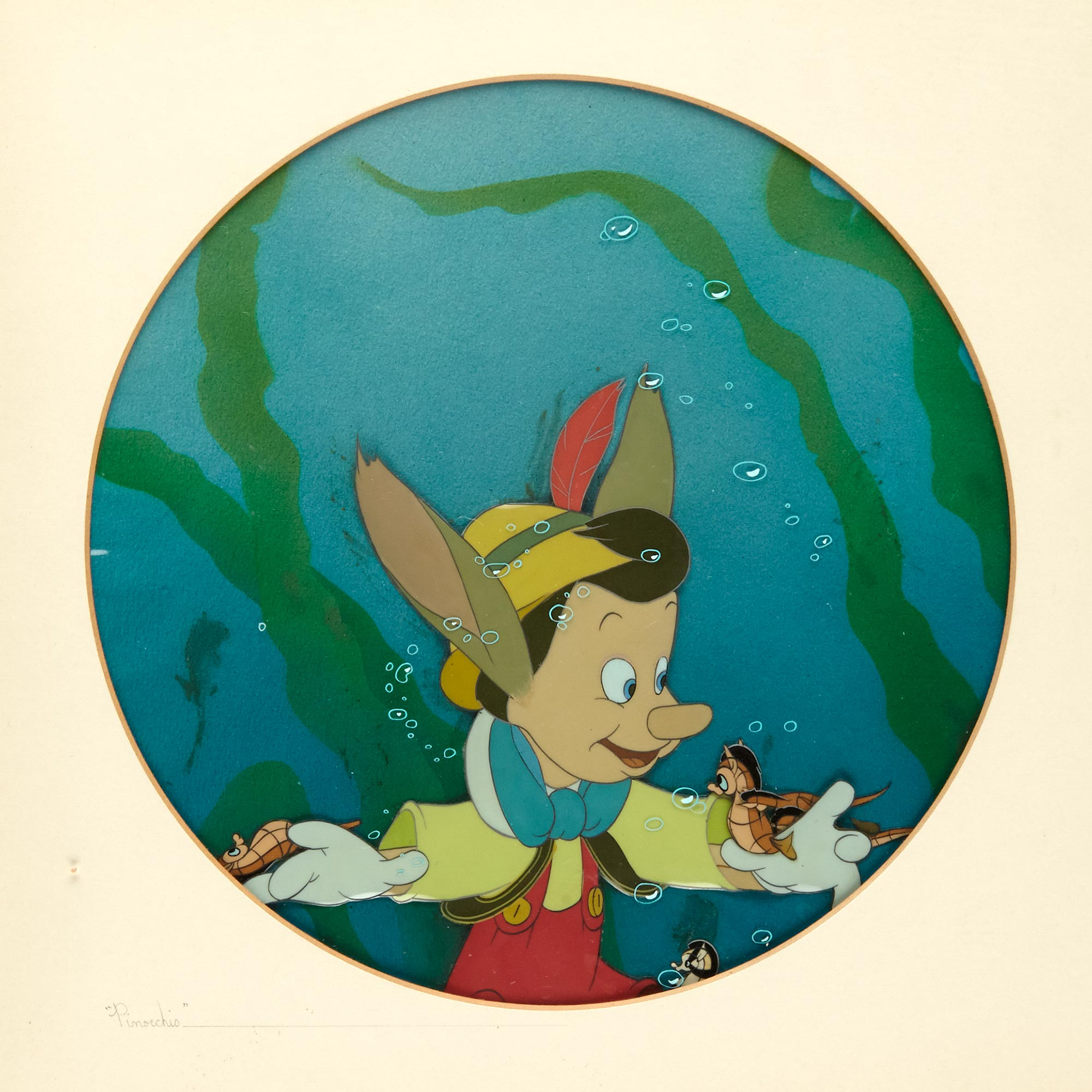 Lot image - [ANIMATION ART]  Disney animation cell for Pinocchio.