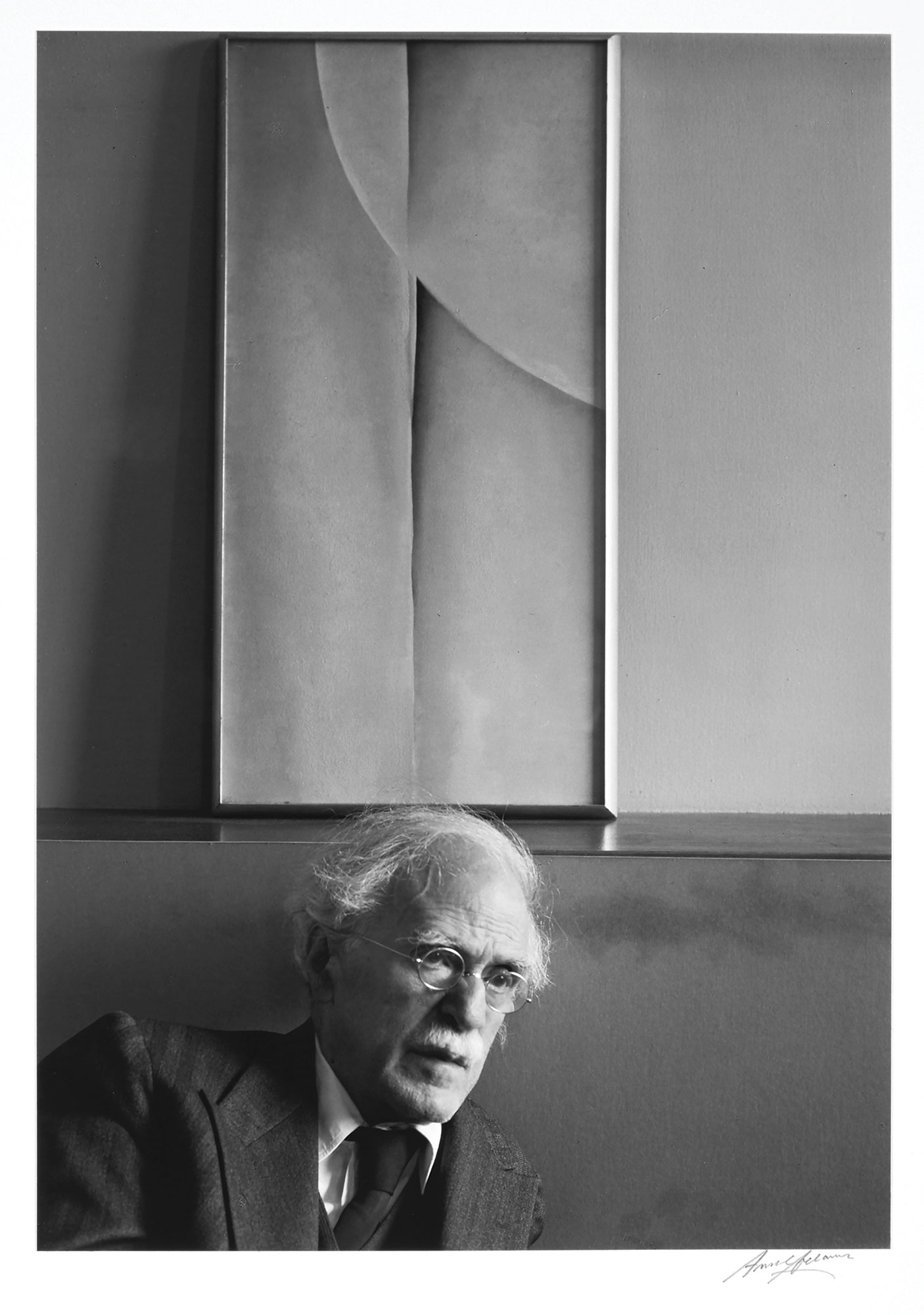 Lot image - ADAMS, ANSEL (1902-1984)  Alfred Stieglitz and Painting by Georgia OKeeffe, at An American Place, New York City,