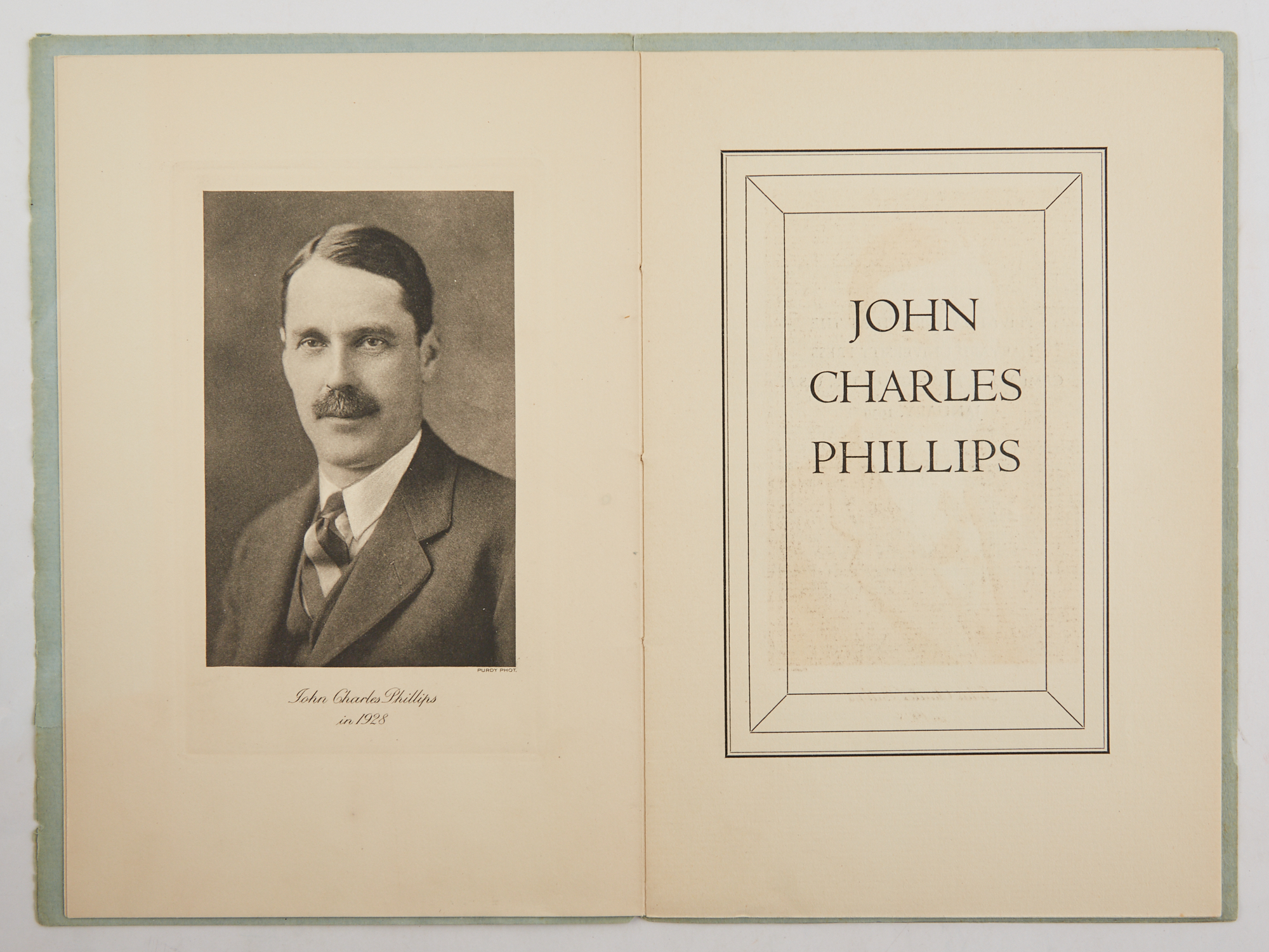 Lot image - [BARBOUR, THOMAS]  John Charles Phillips.