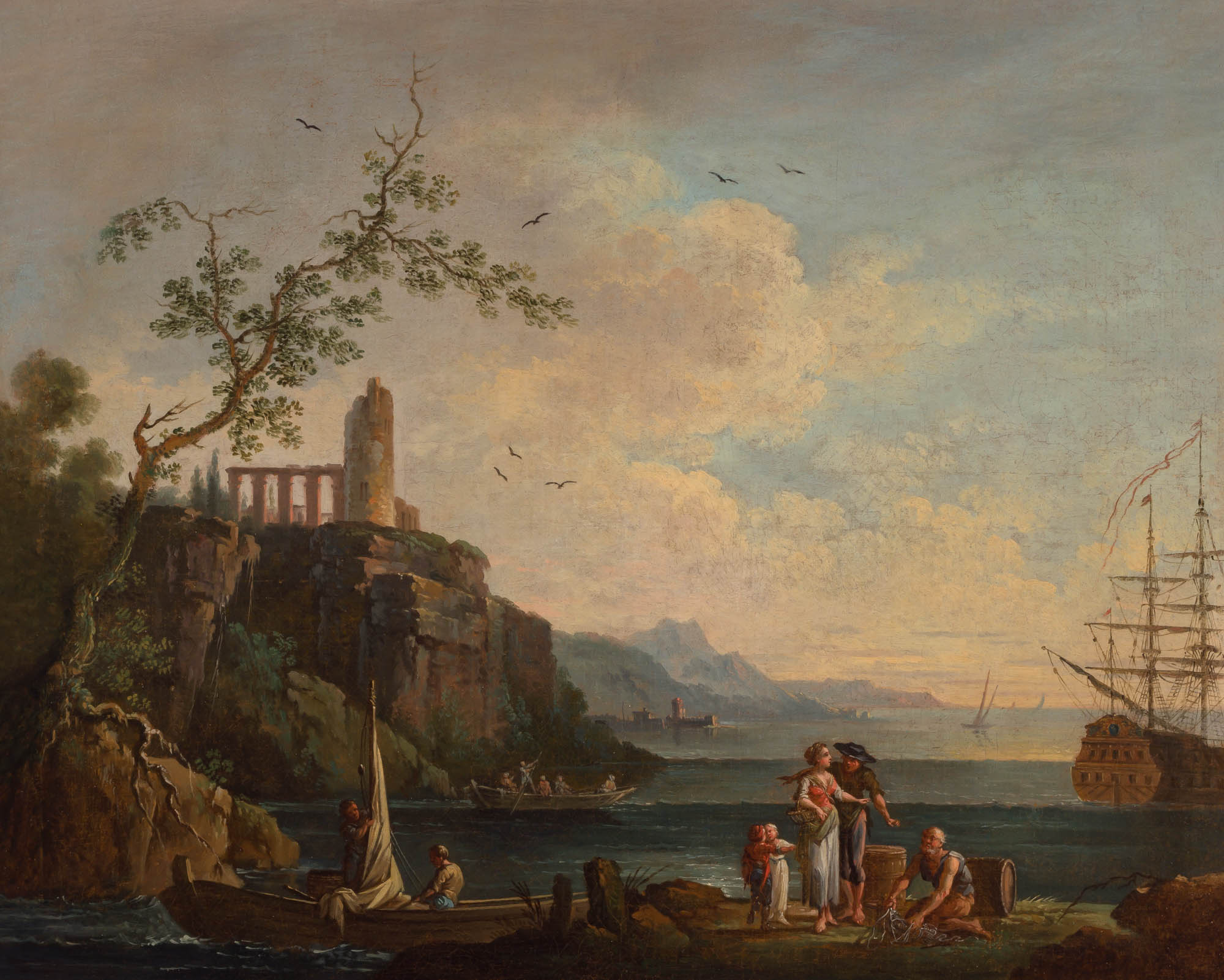 Lot image - Manner of Claude Joseph Vernet