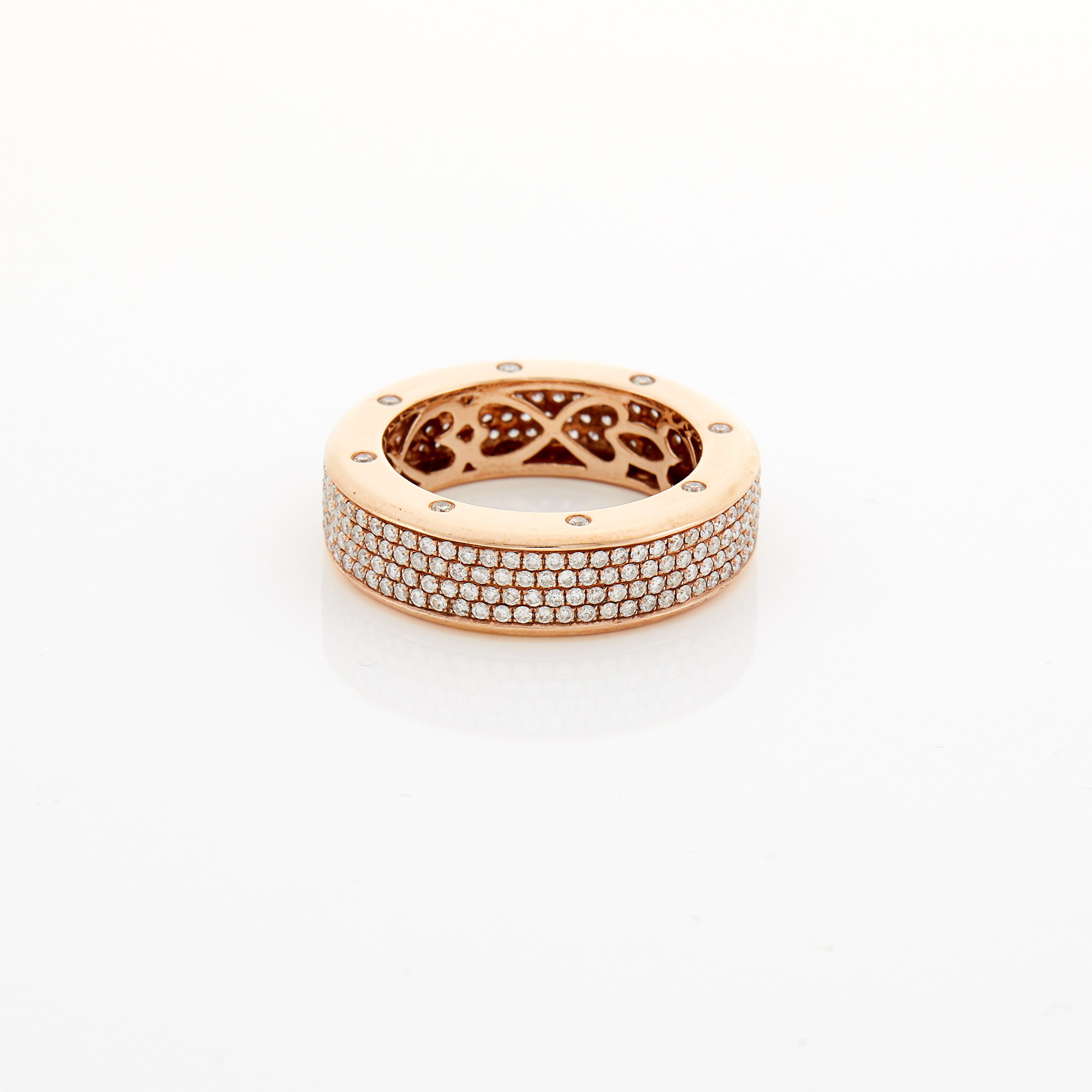 Lot image - Rose Gold and Diamond Band Ring
