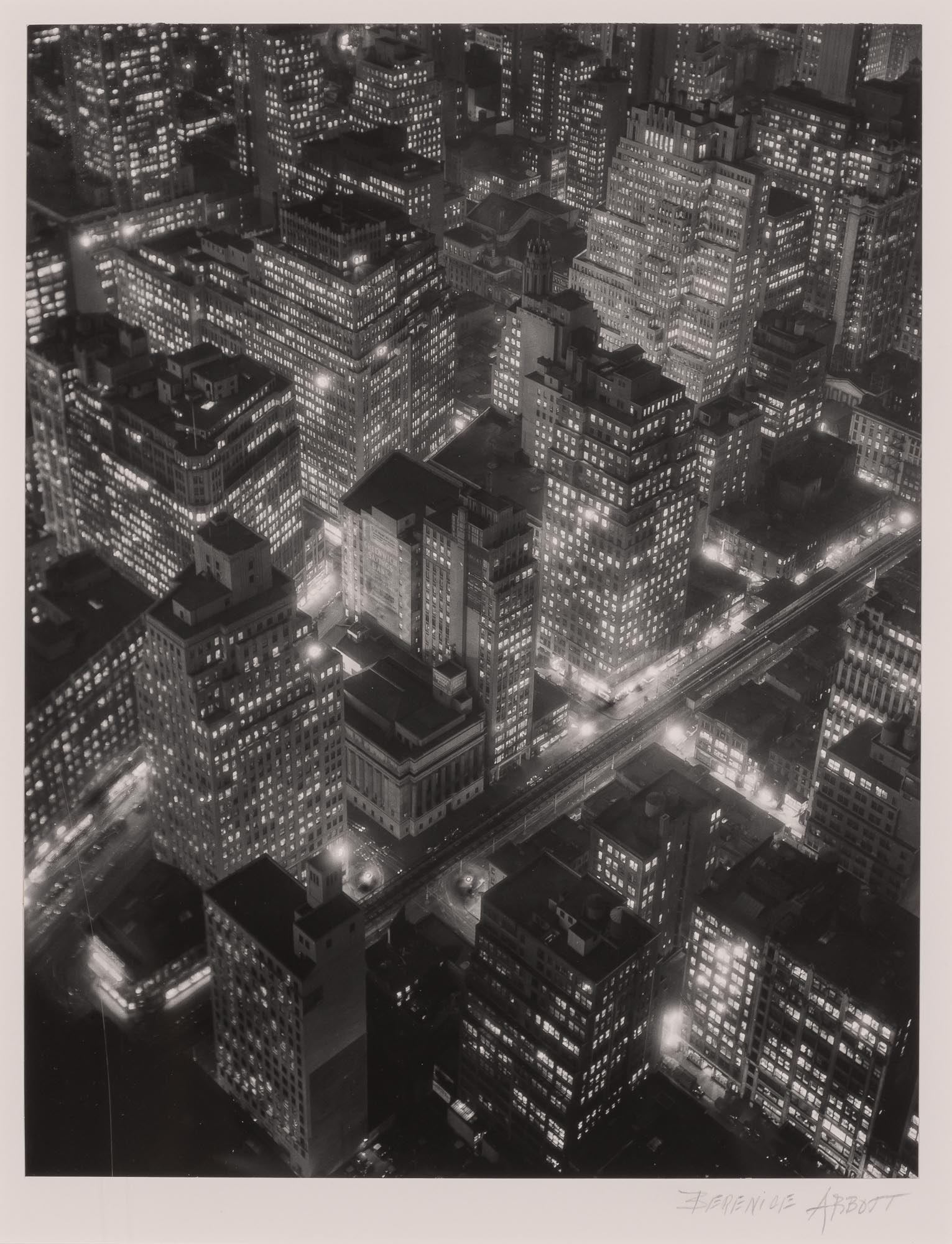 Lot image - ABBOTT, BERENICE (1898-1991)  New York at Night