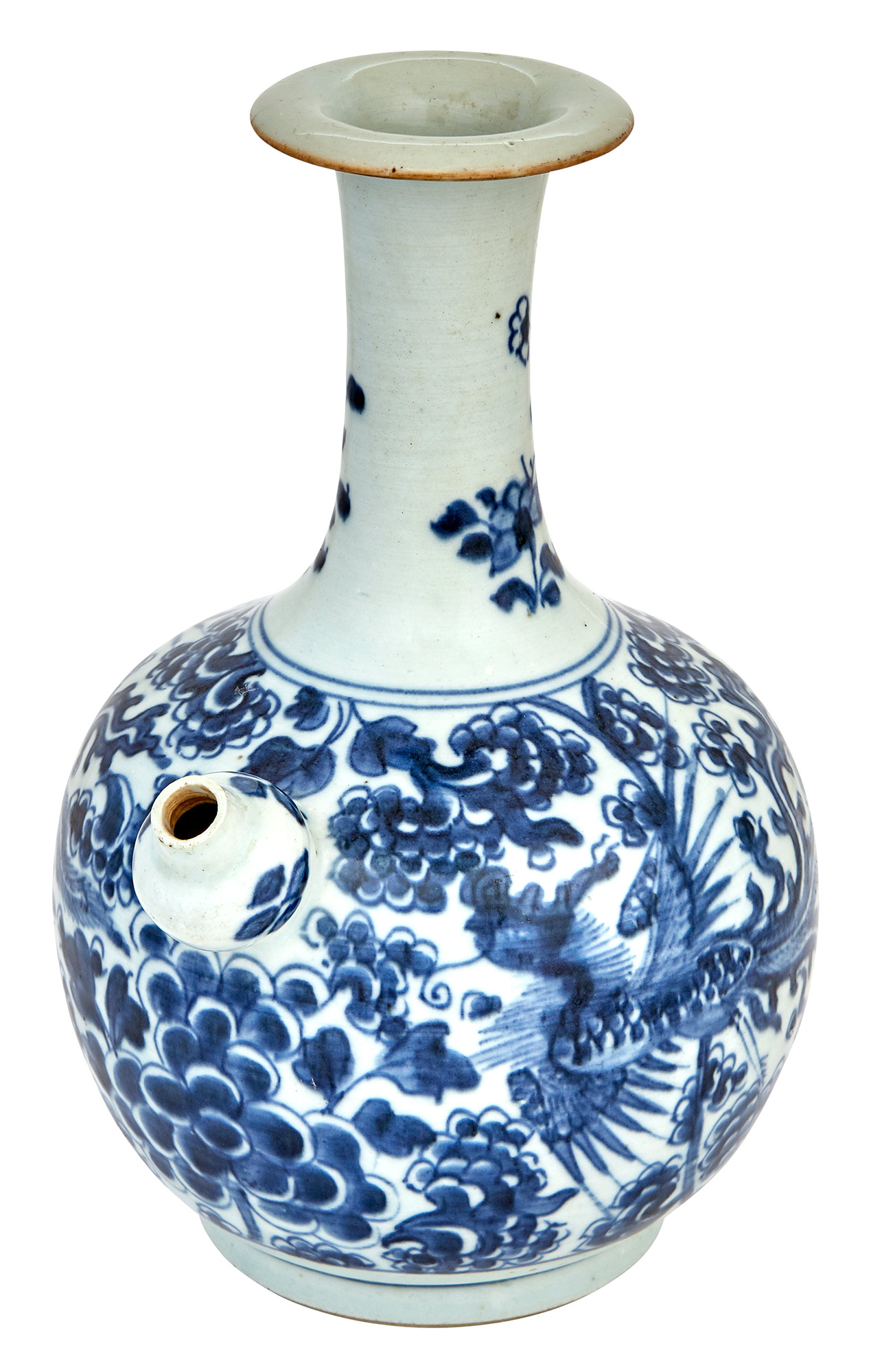 Lot image - Chinese Blue and White Glazed Porcelain Kendi