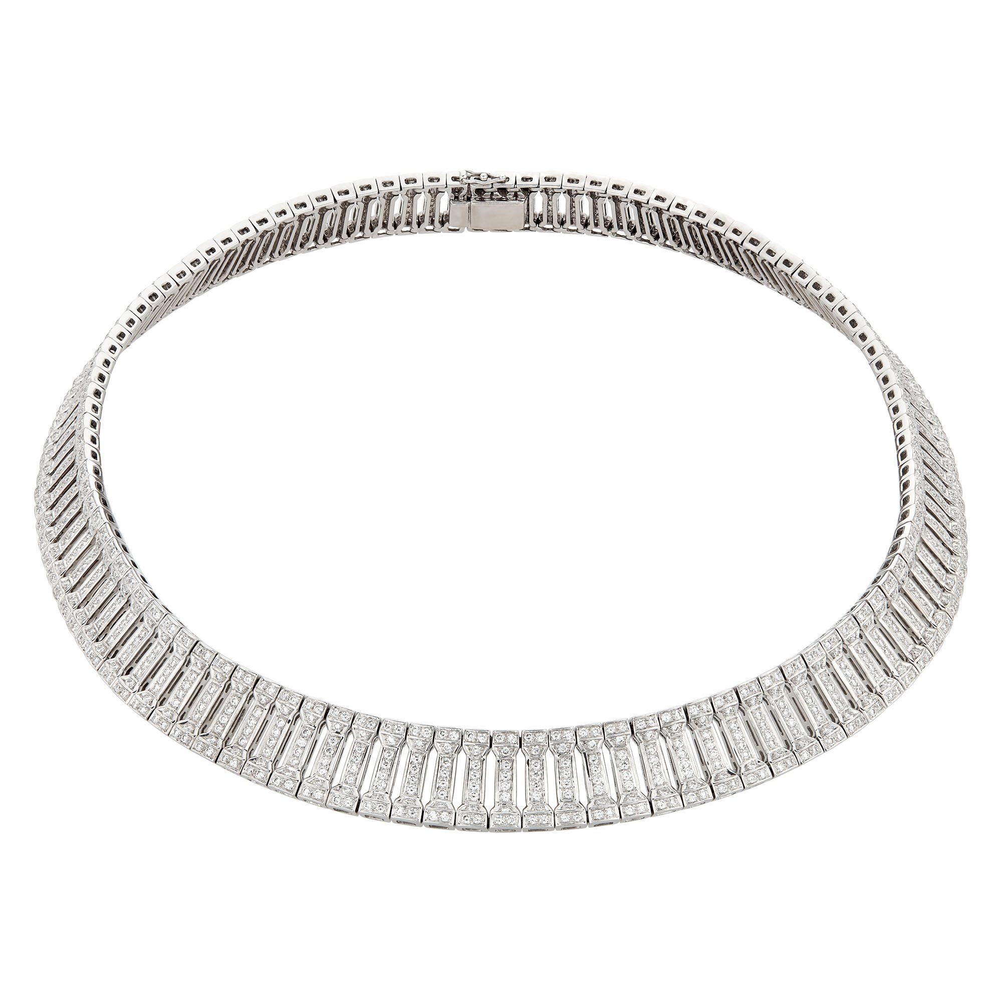 Lot image - Hans D. Krieger White Gold and Diamond Collar Necklace