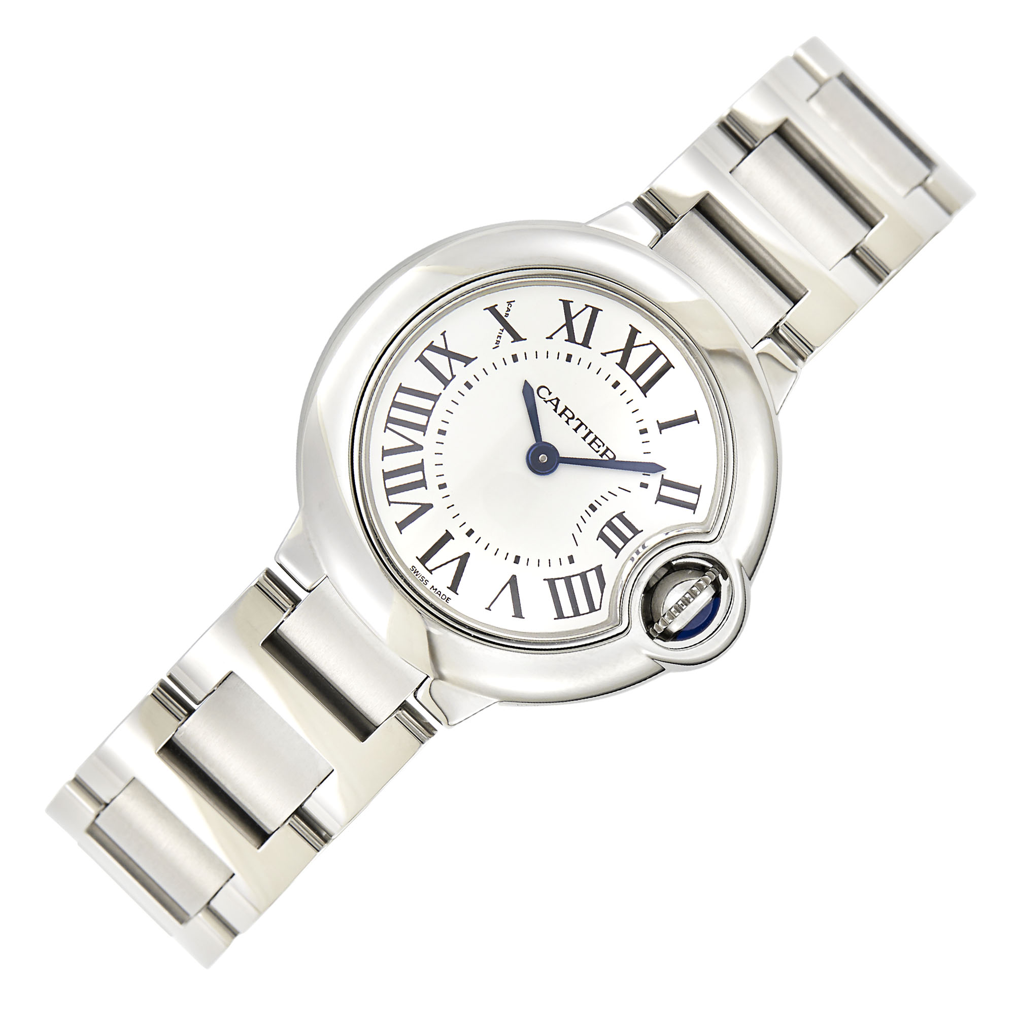 Lot image - Cartier Stainless Steel Ballon Bleu Wristwatch, Ref. 3009