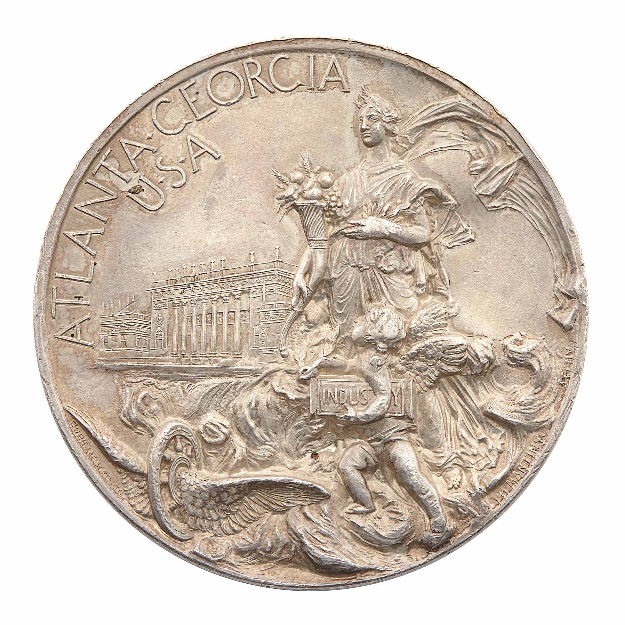 Lot image - United States 1895 Cotton States and International Exposition Silver Medal, Atlanta, GA