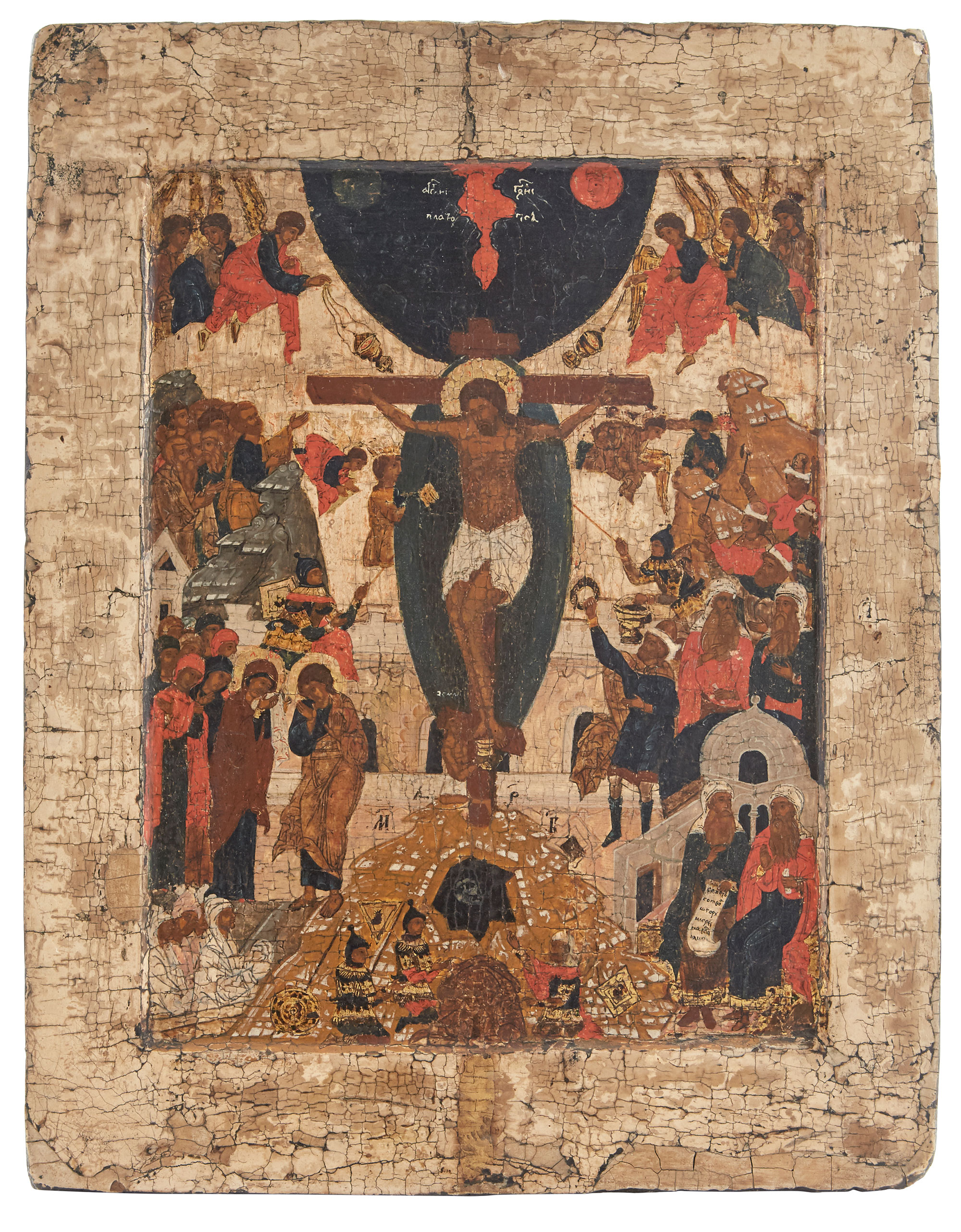 Lot image - Russian Icon of the Crucifixion