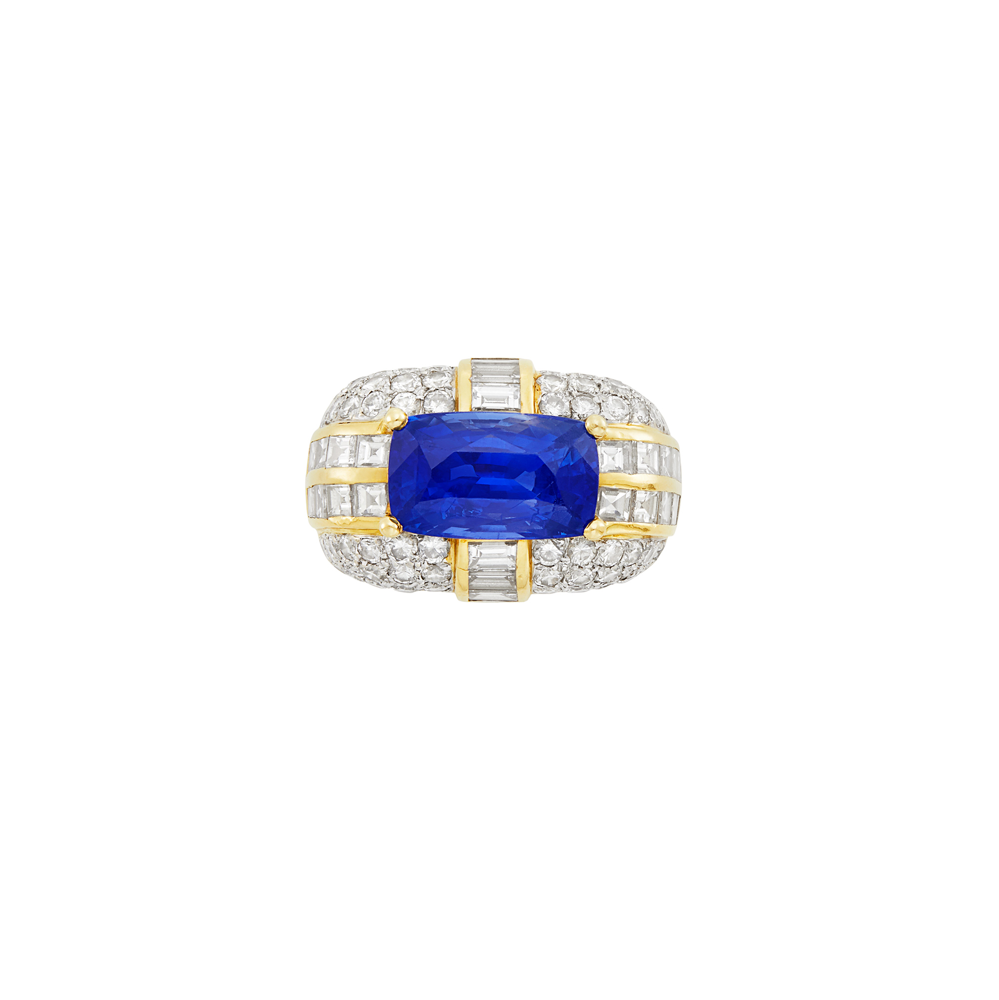 Lot image - Gold, Sapphire and Diamond Ring