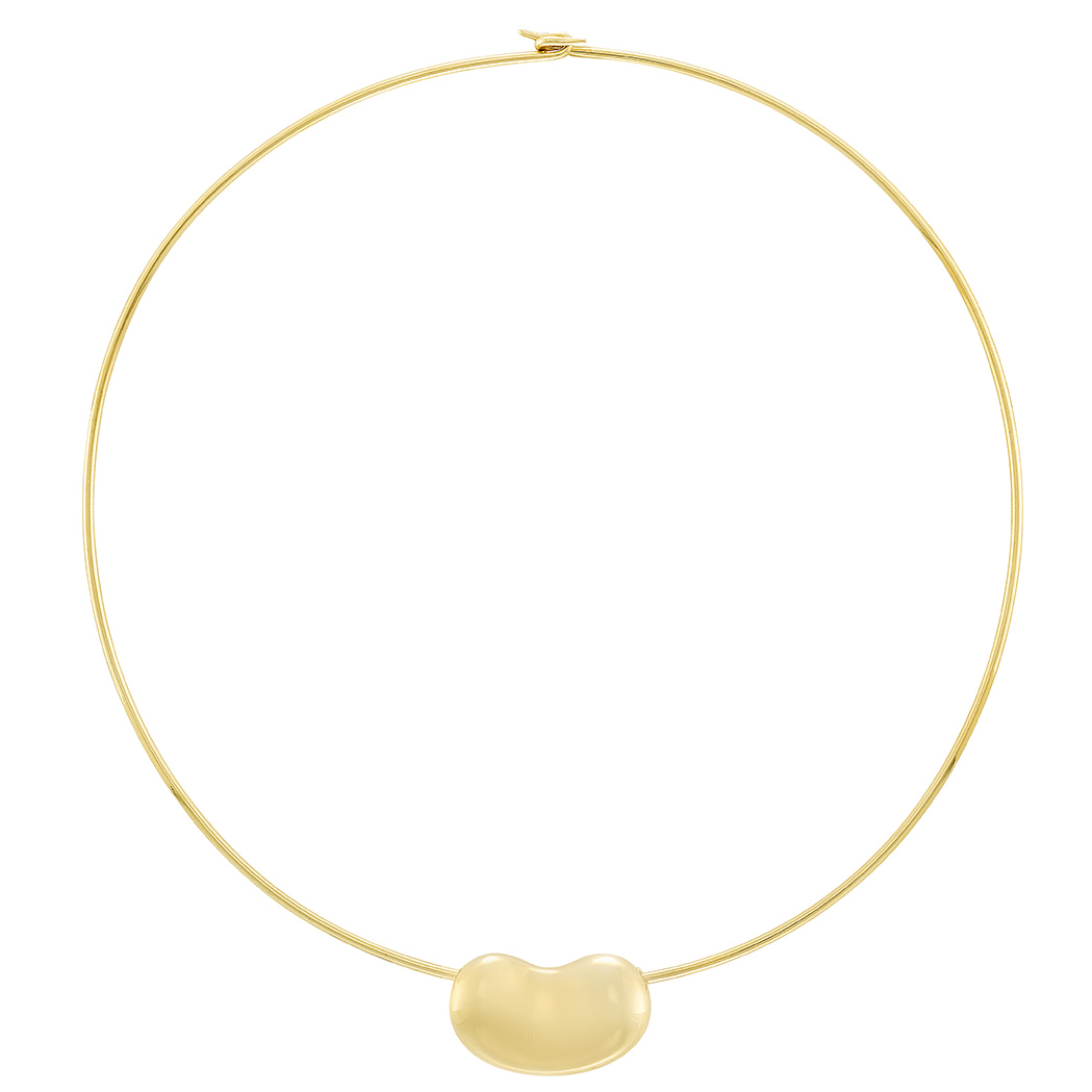 Lot image - Gold Bean Torque Necklace, Tiffany & Co., Elsa Peretti