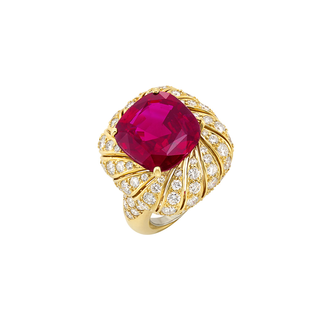 Lot image - Gold, Ruby and Diamond Ring, Van Cleef & Arpels