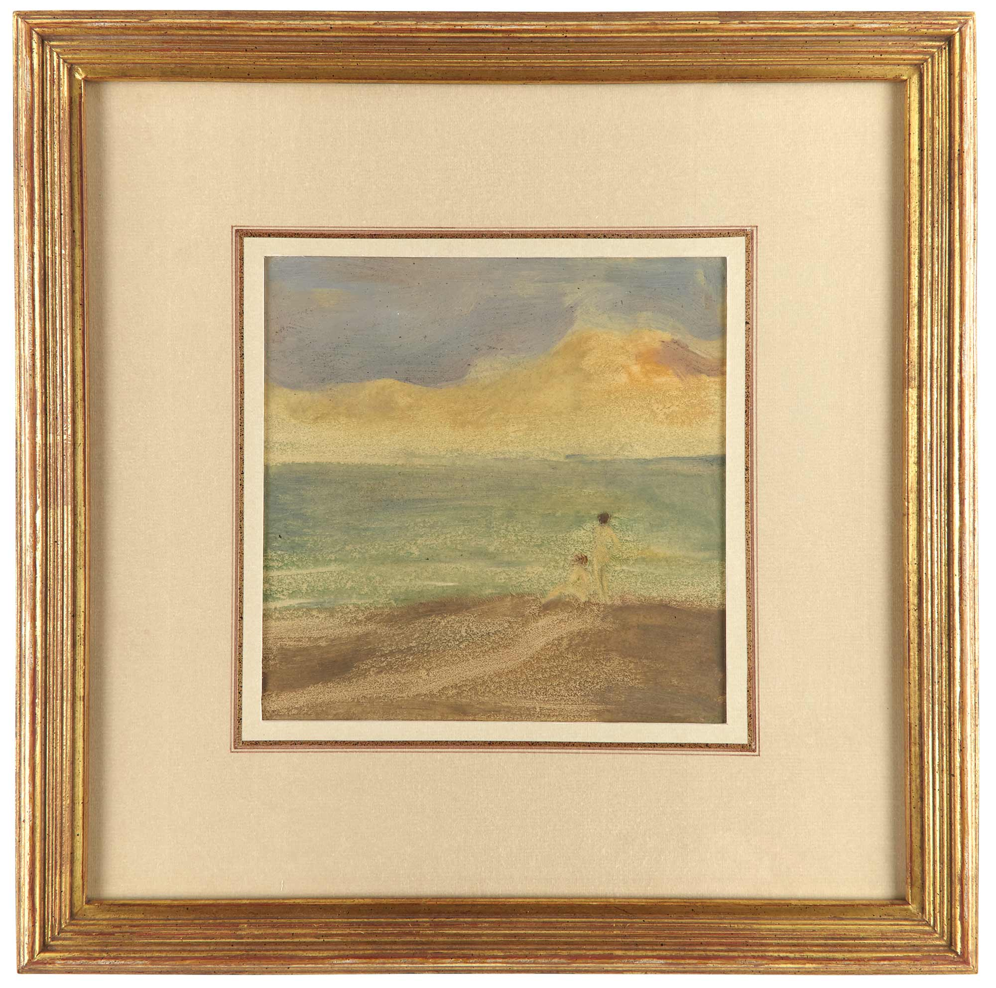 Lot image - GIBRAN, KAHLIL (1883-1931)  [Figures on the shore].