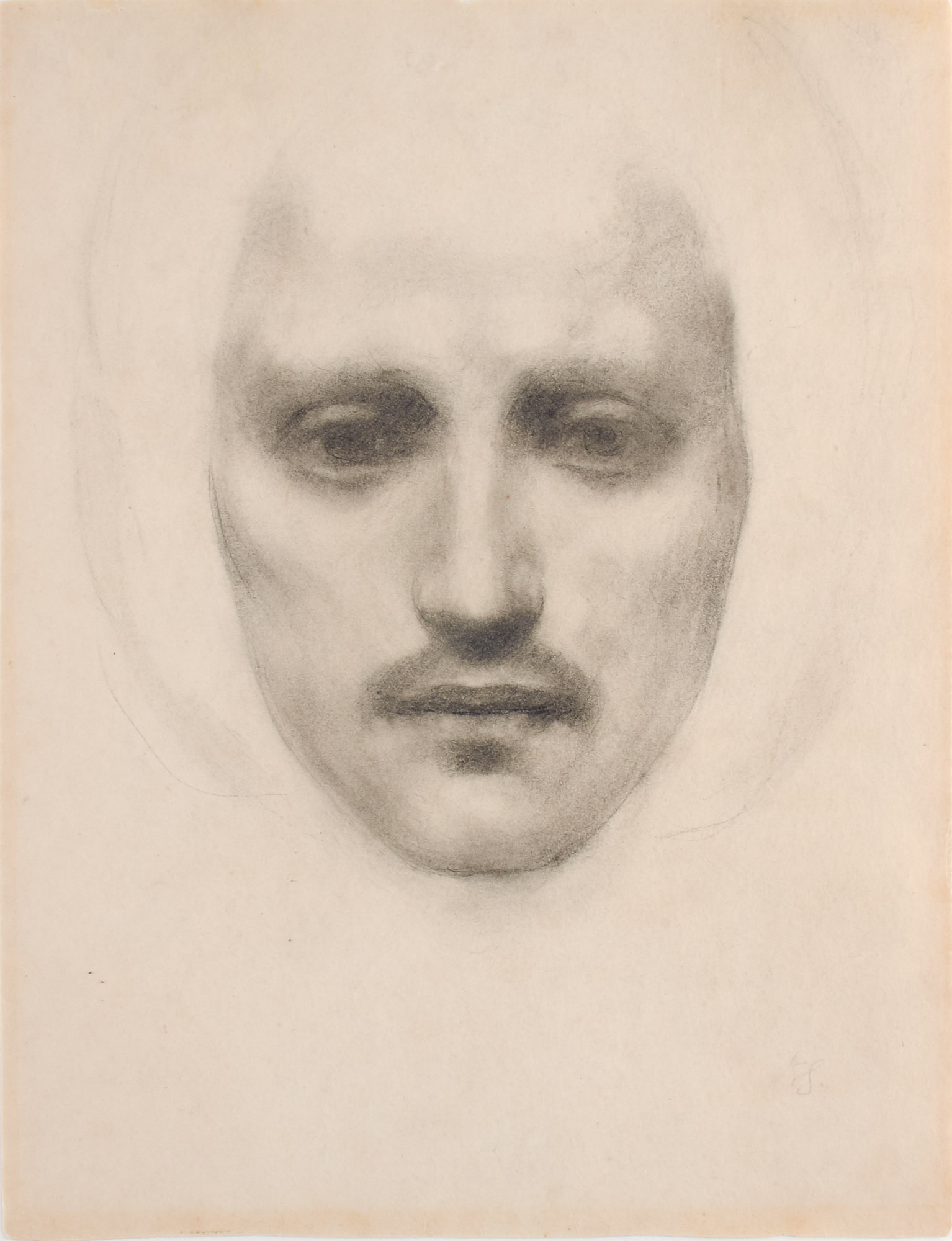 Lot image - Kahlil Gibran, Self Portrait