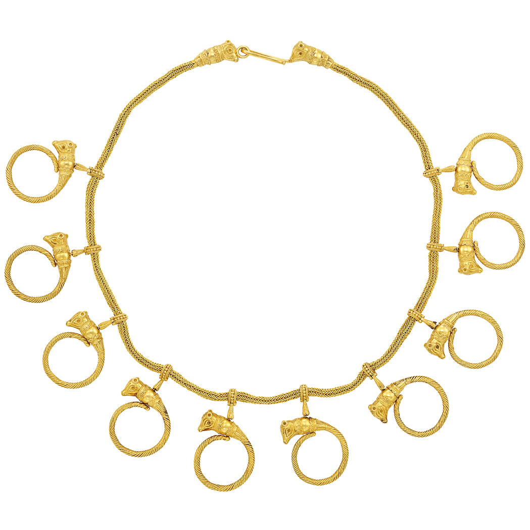 Lot image - High Karat Gold Necklace, Ilias Lalaounis
