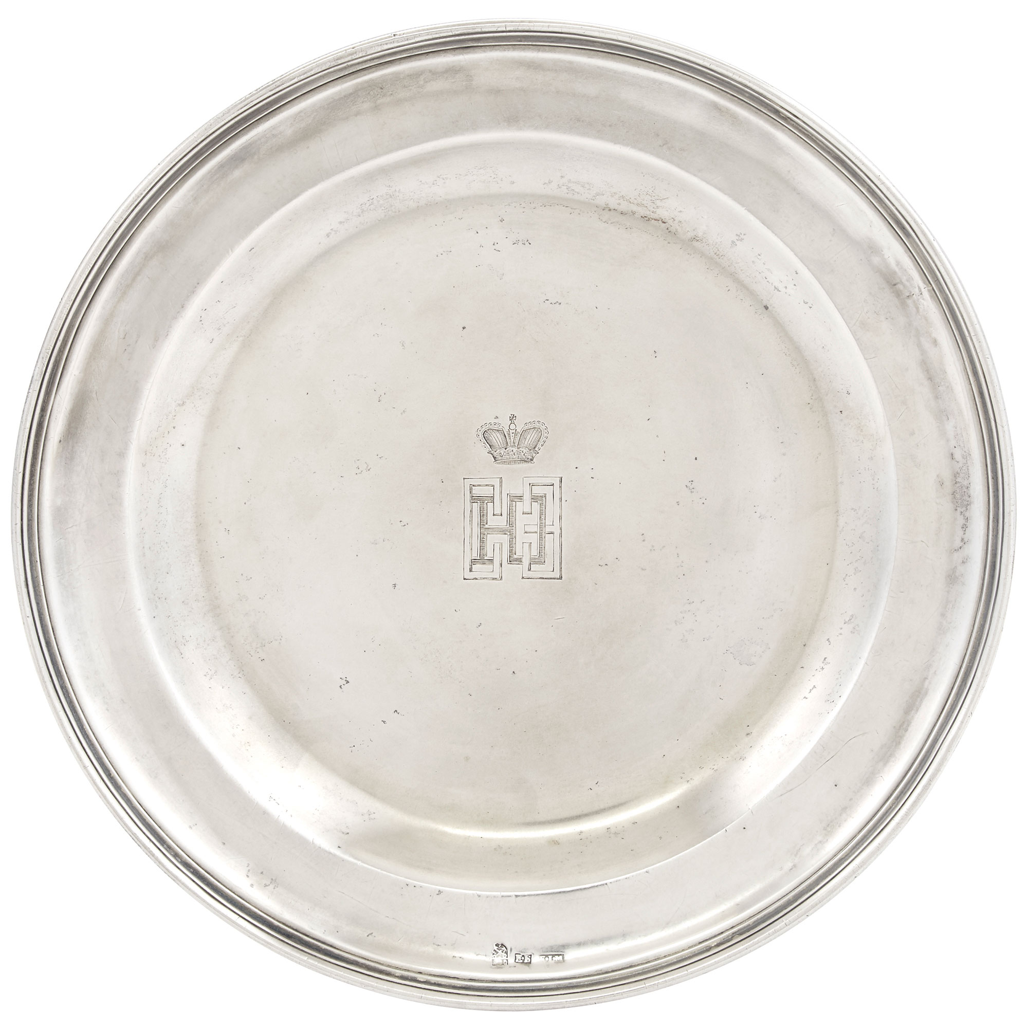 Lot image - Russian Silver Dinner Plate