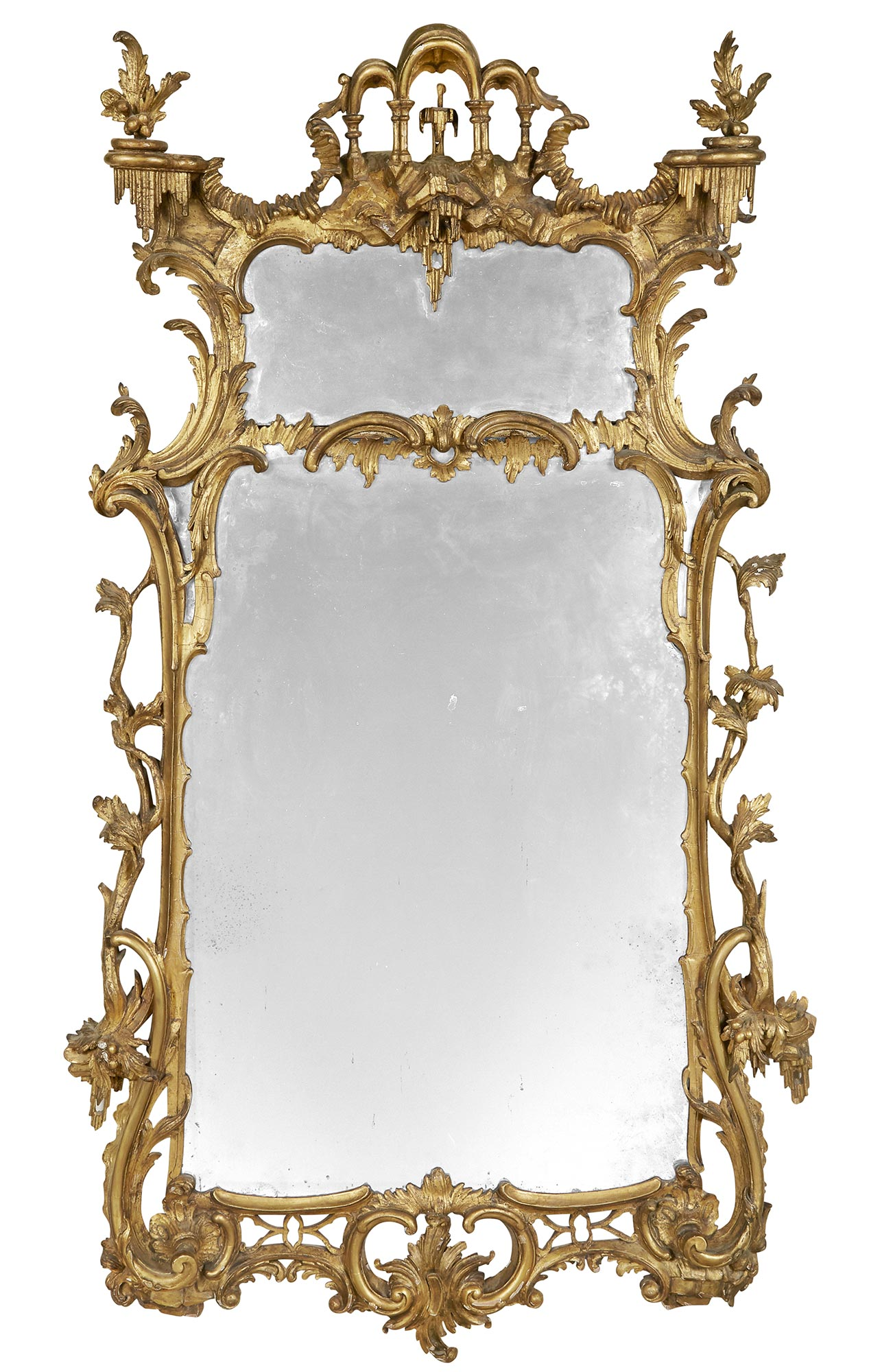 Lot image - George II Giltwood Pier Mirror