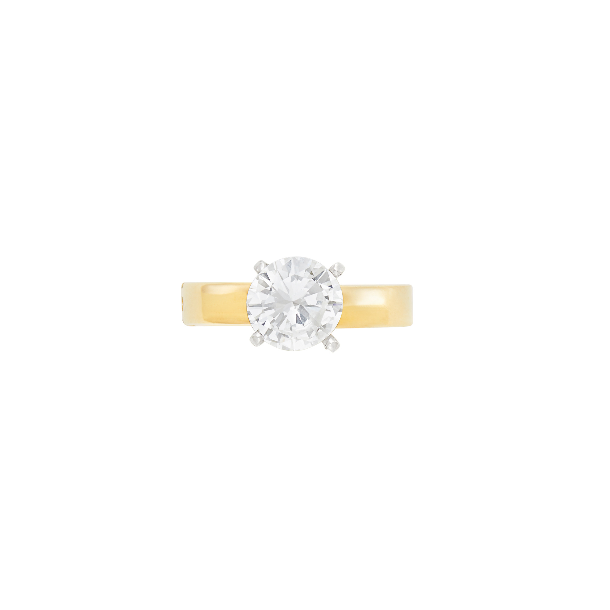 Lot image - Gold and Diamond Ring
