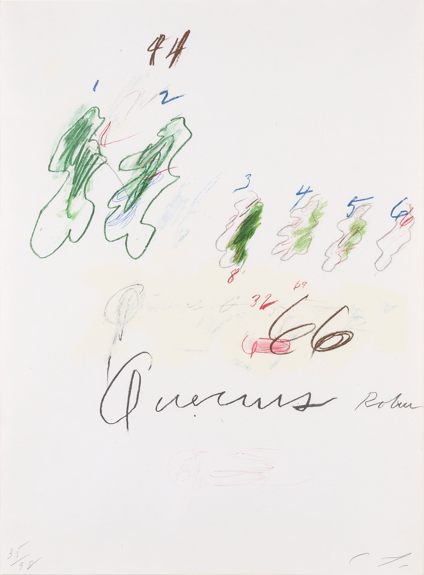 Lot image - Cy Twombly